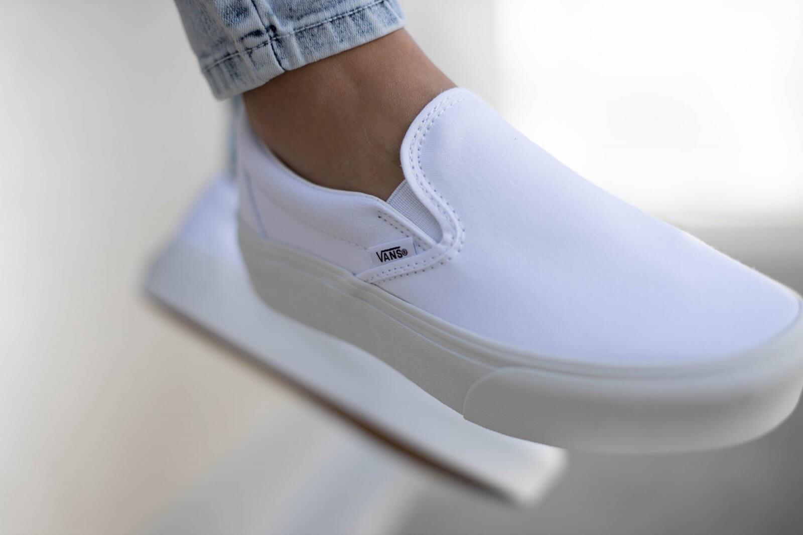 Vans Slip-On Platform True White