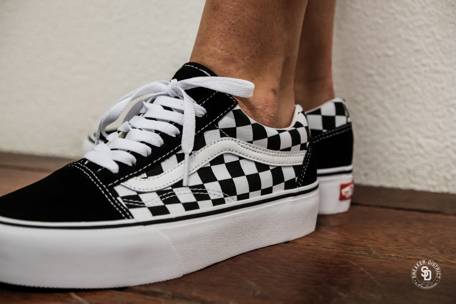 vans old skool checkerboard dames
