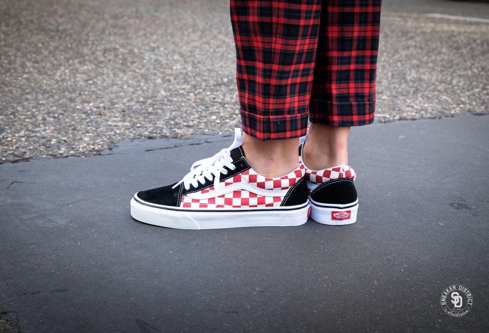 vans old skool checkerboard mix