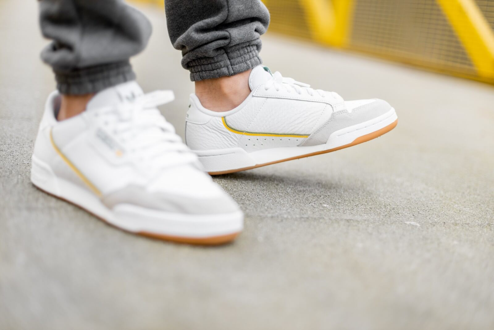 Adidas Continental 80 Cloud White/Yellow