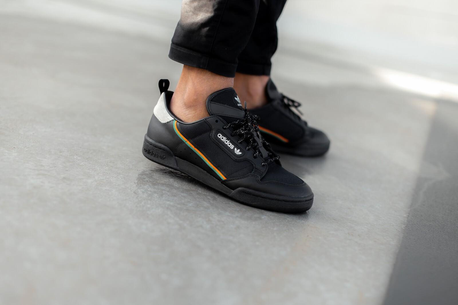 Adidas Continental 80 Core Black/Orange