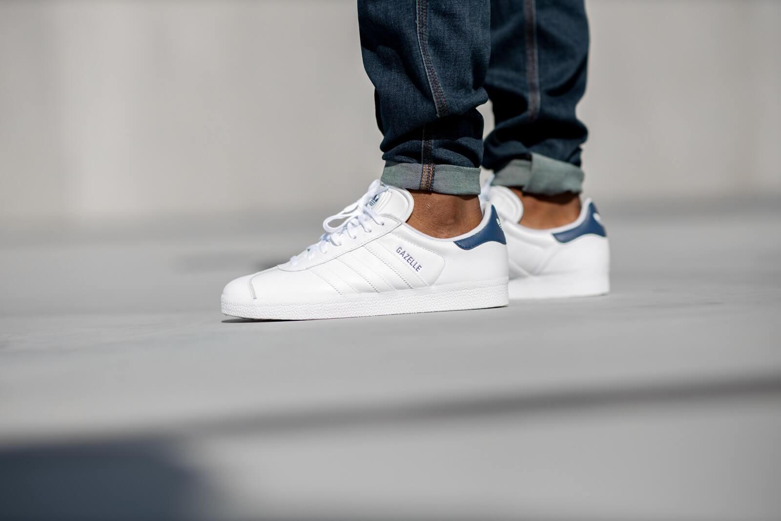 Adidas Gazelle Footwear White/Dark Blue