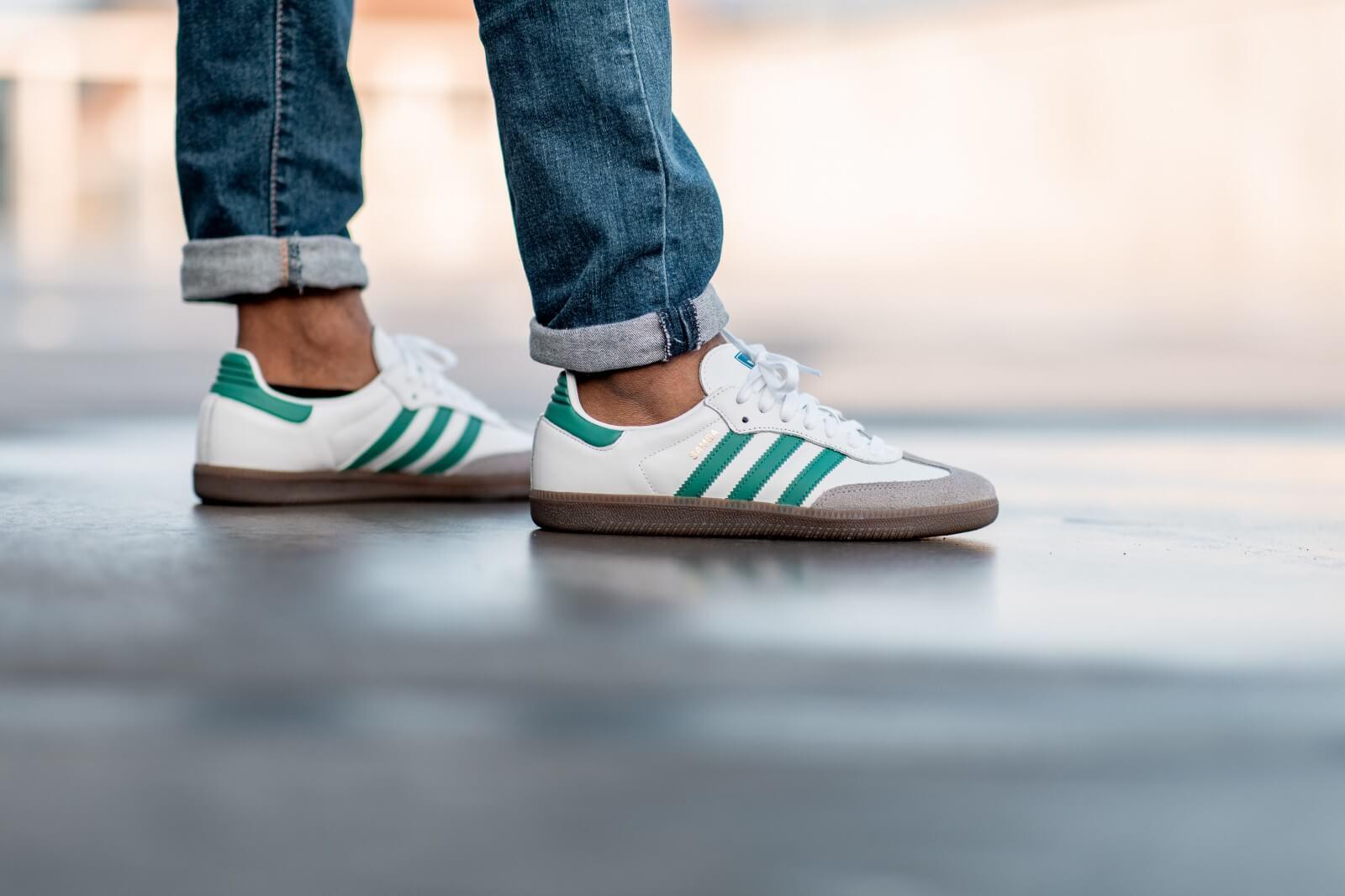 Adidas Samba OG Footwear WhiteGreen EF6552