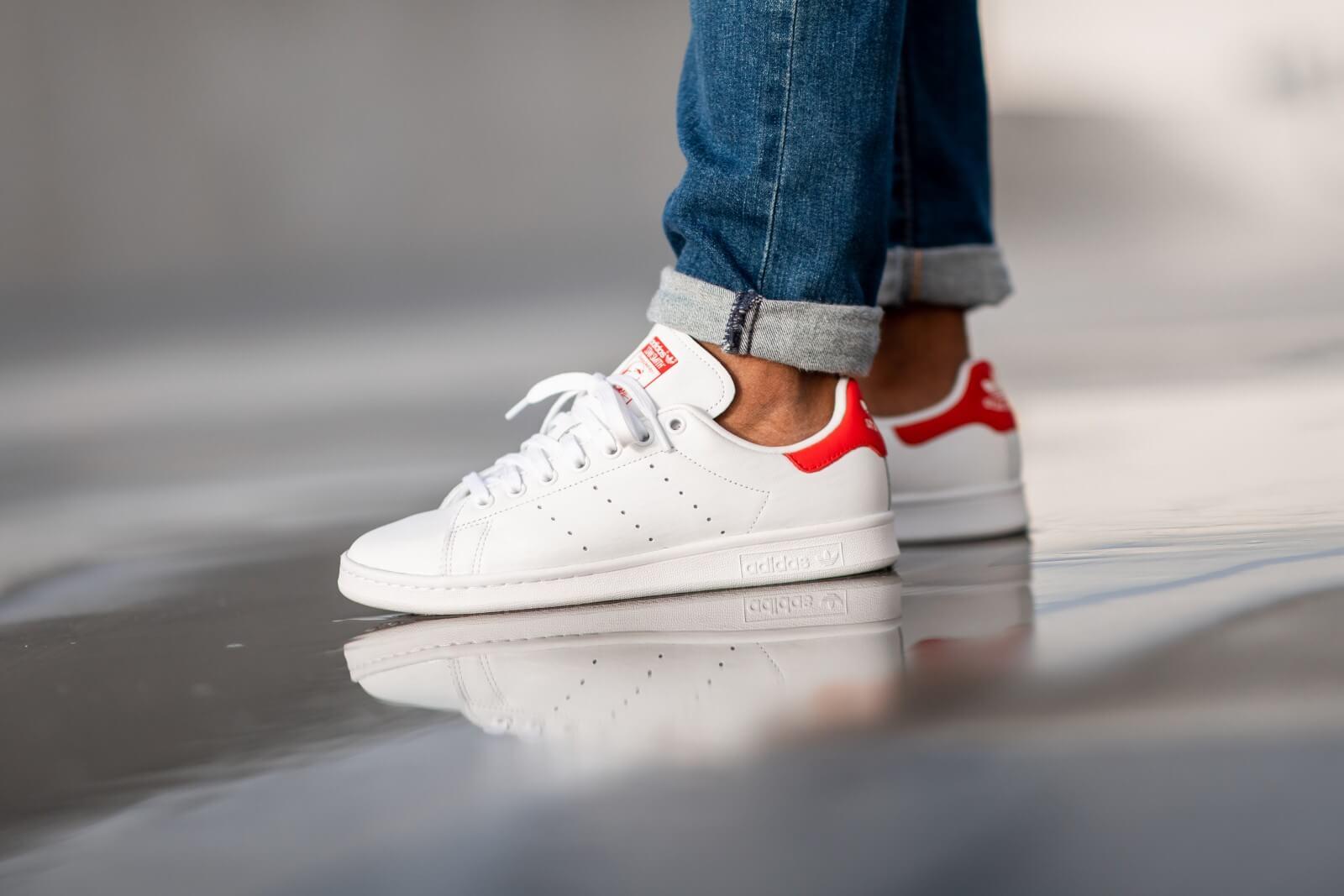 Puro Esperar Distinción  Adidas Stan Smith Footwear White/Lush Red - EF4334