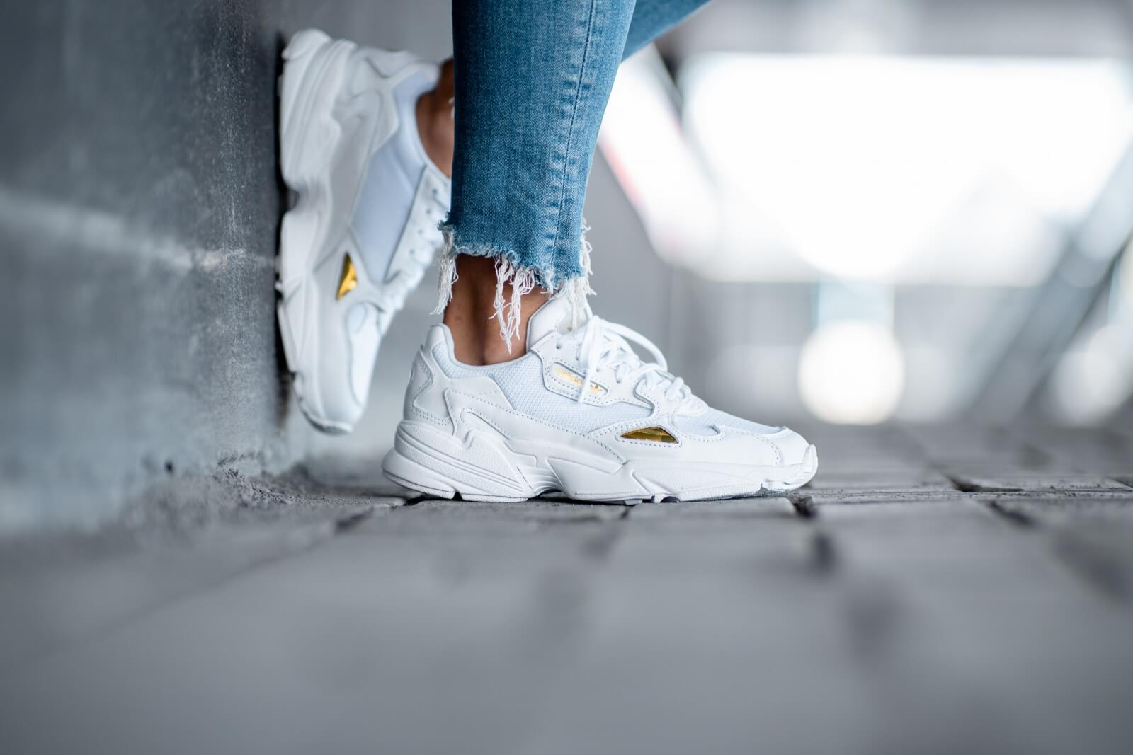 Adidas Women's Falcon Footwear White/Gold Metallic
