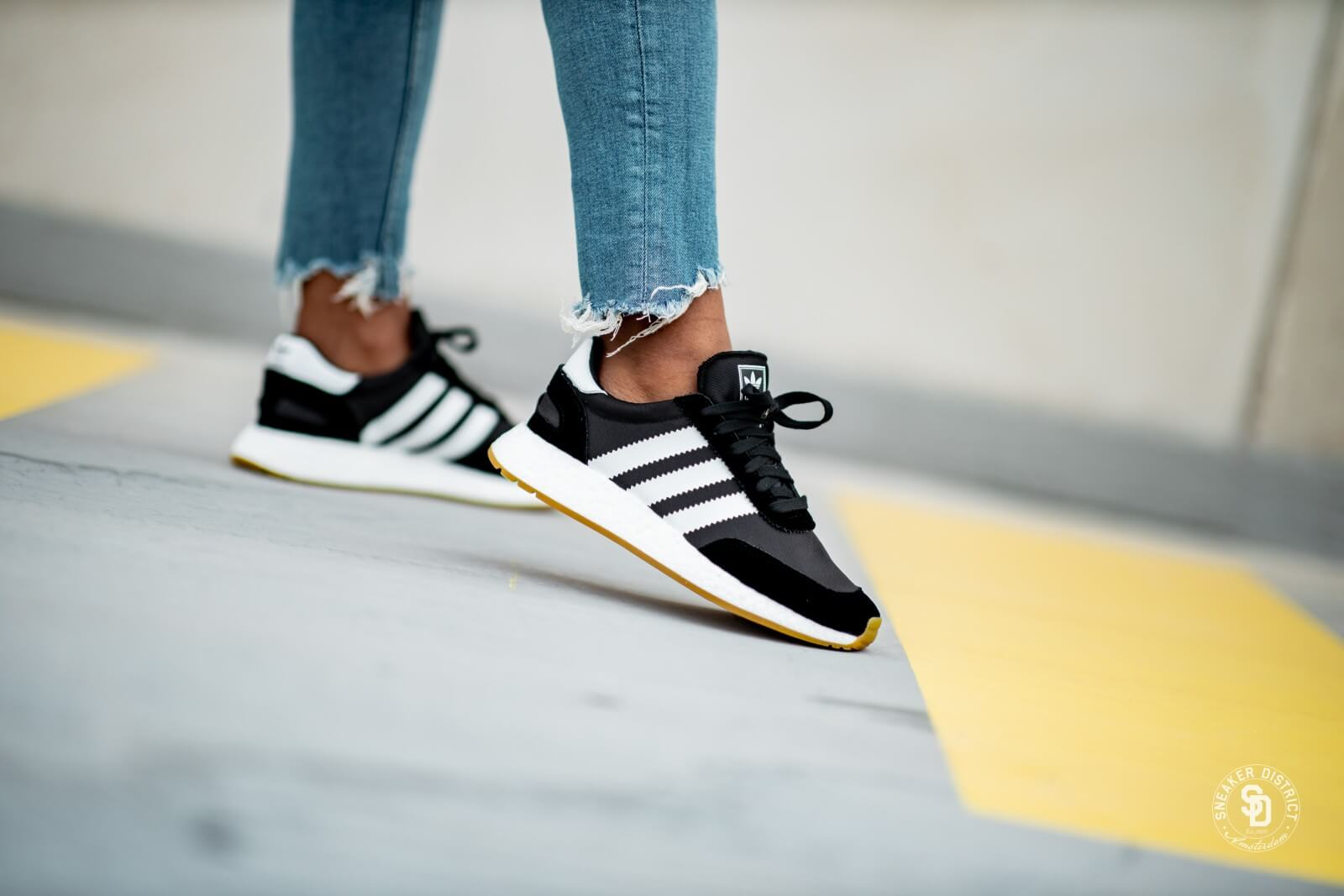 Adidas Women's I-5923 Core Black/Footwear White-Gum
