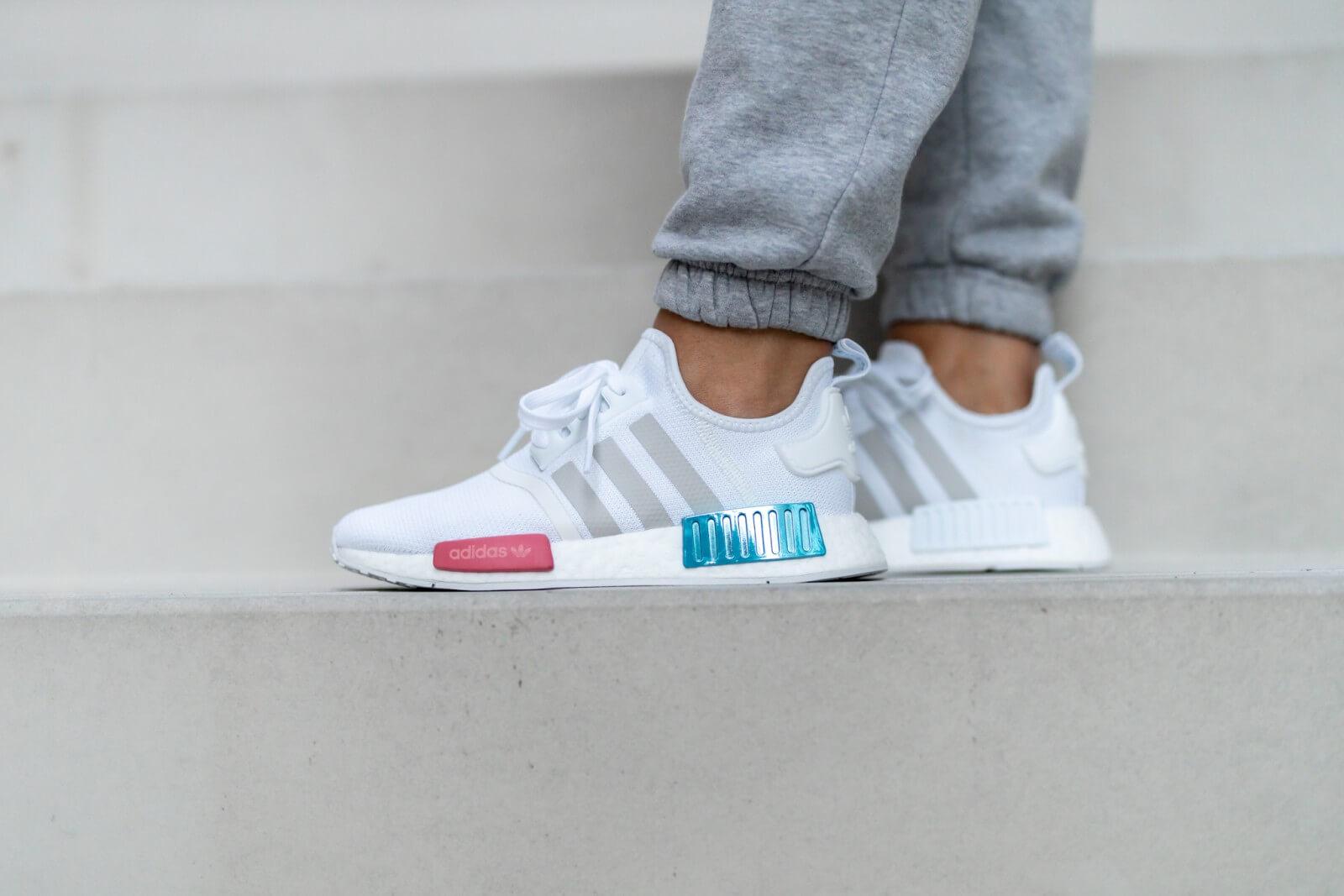 Adidas Women's NMD R1 Cloud White/Grey One-Hazy Rose