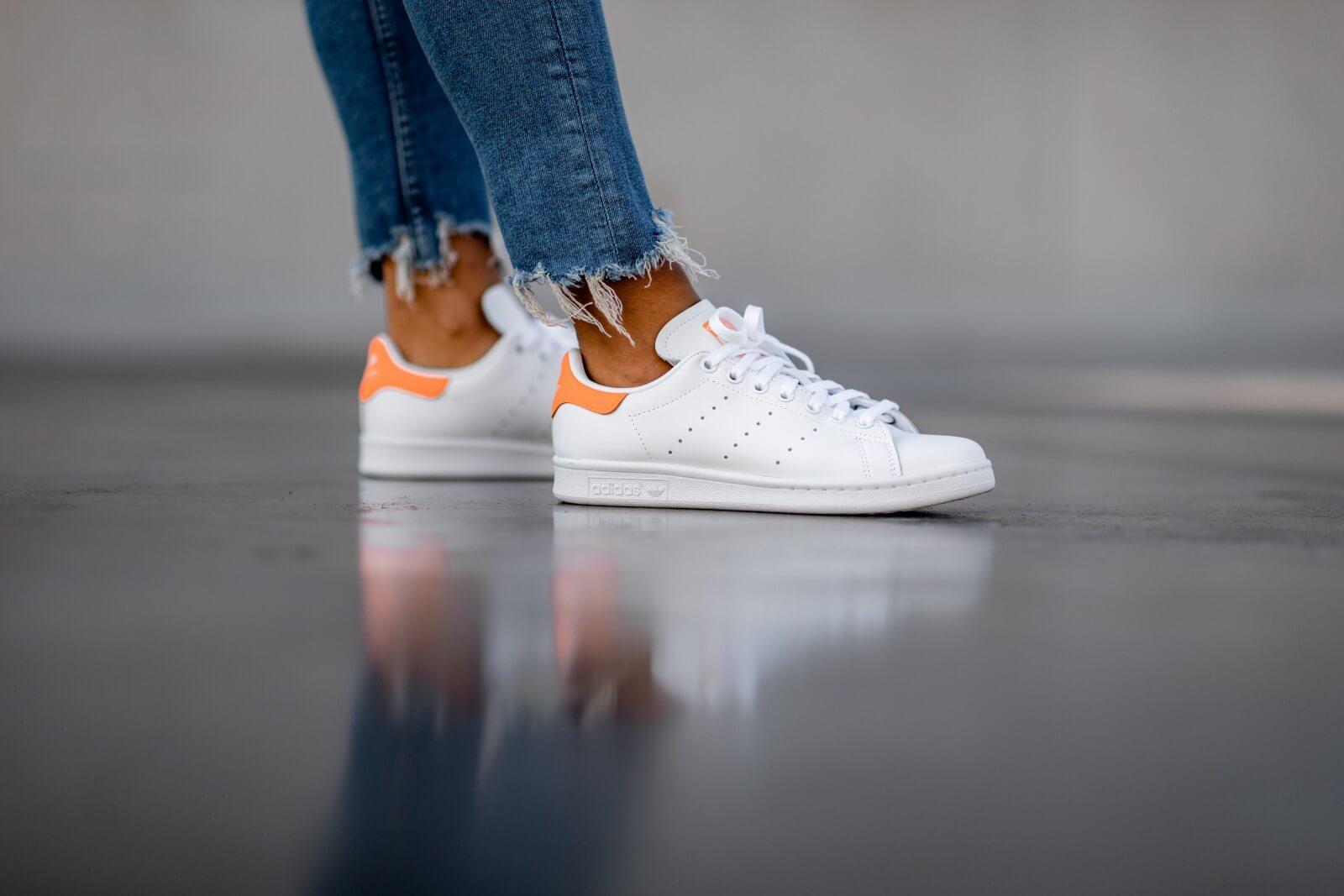 Stan Smith Footwear White/Solar Orange