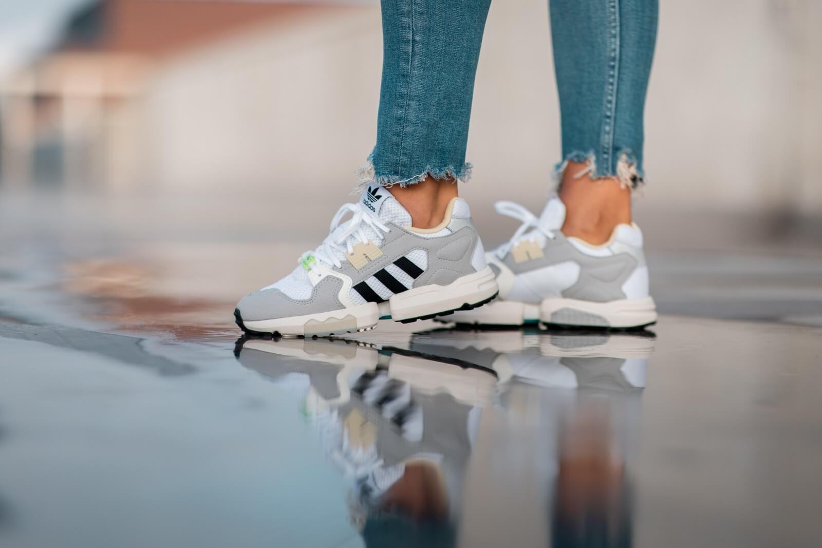 Adidas Women's ZX Torsion Footwear White/Core Black-Grey Two