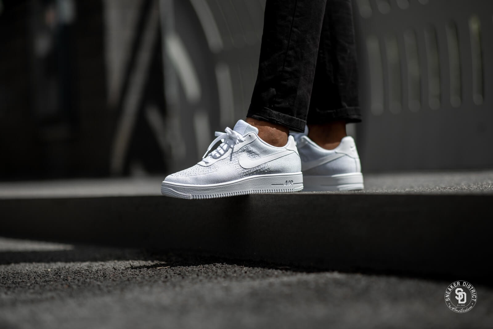 Nike Air Force 1 Flyknit 2 0 White Pure Platinum Av3042 100