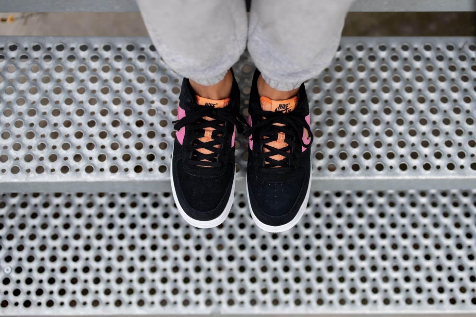 Nike Air force 1 LV8 GS Black/Orange Trance-Lotus Pink