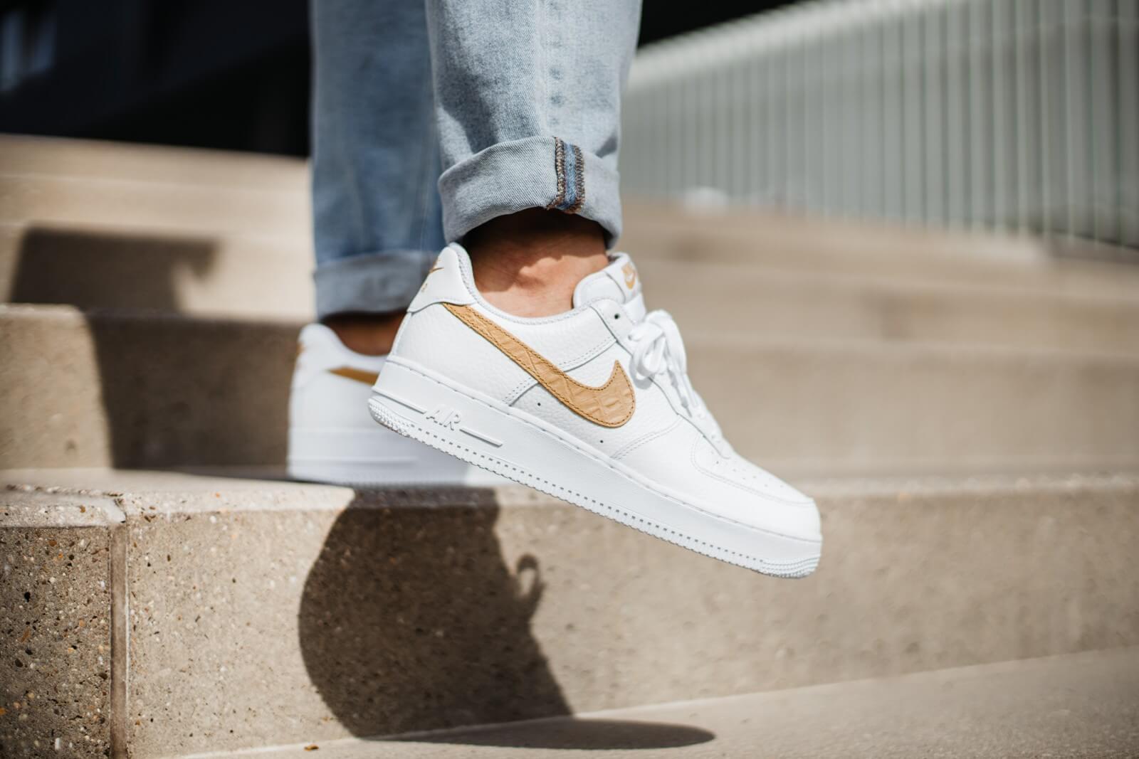 Nike Air Force 1 LV8 Pony Swoosh White/Club Gold