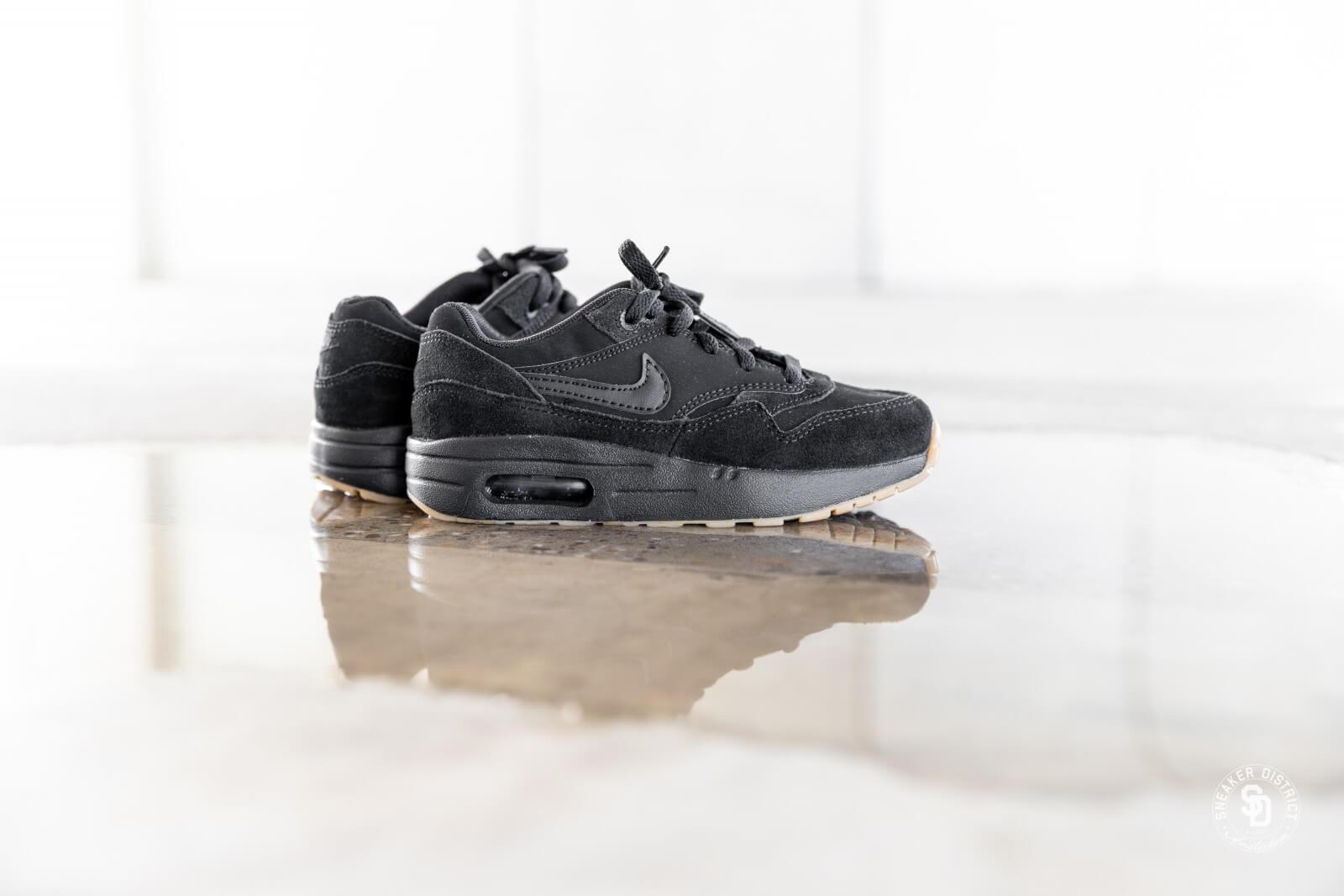 807603 008 Nike Air Max 1 Black//Black-Black TD