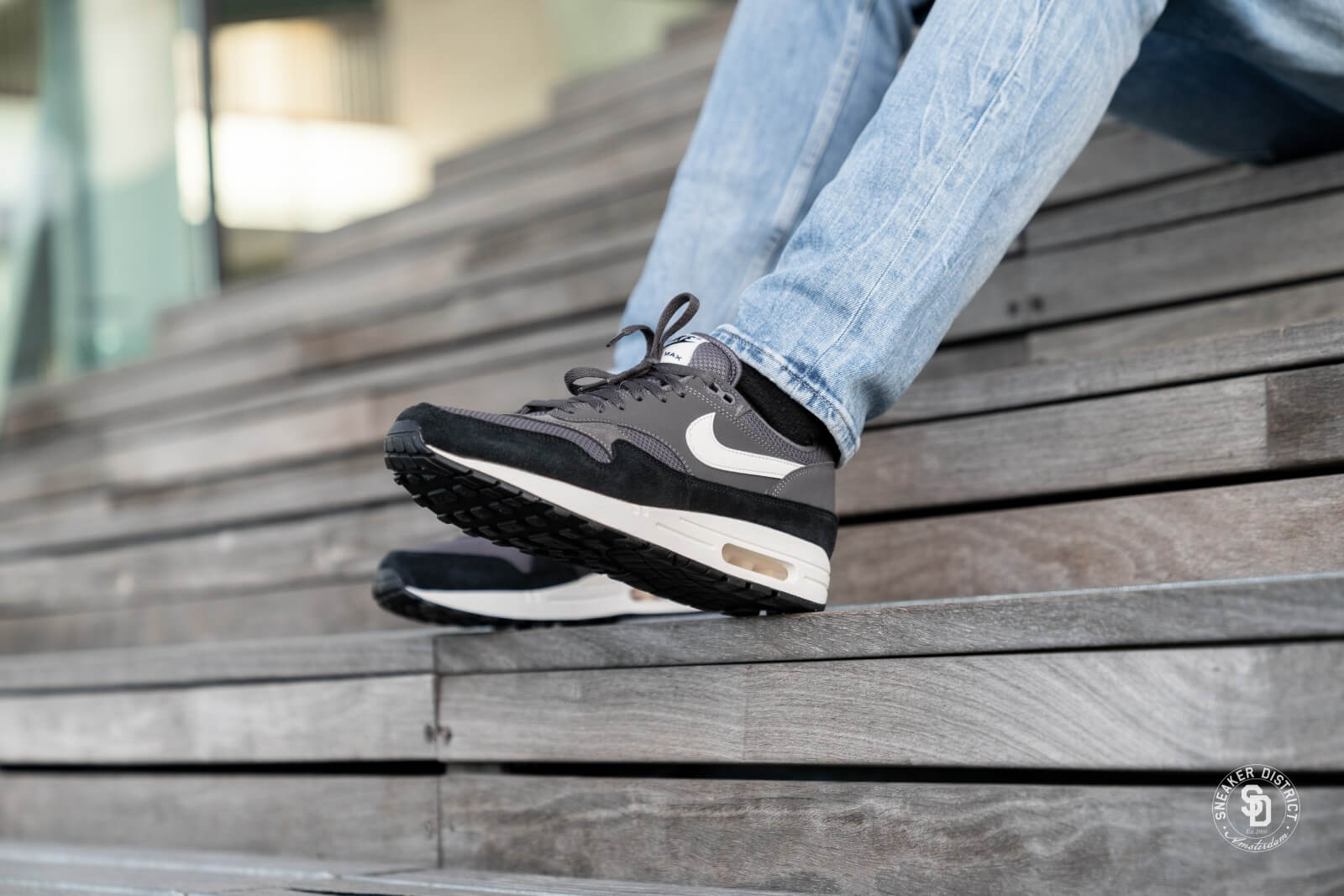Nike Air Max 1 Thunder GreySail Black AH8145 012