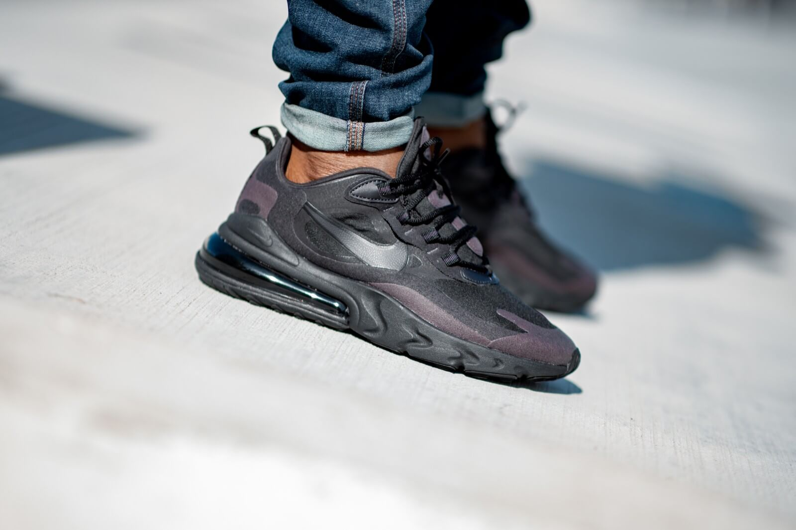 Nike Air Max 270 React BlackVast GreyWhite Kids | www
