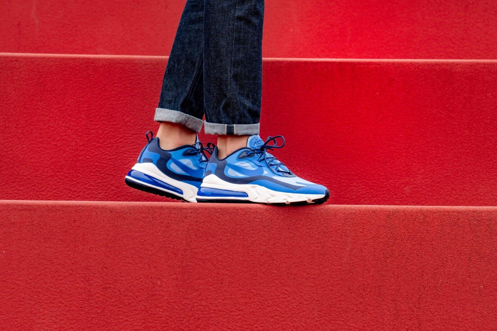 Nike Air Max 270 React Pacific Blue Hyper Blue Ci3866 400