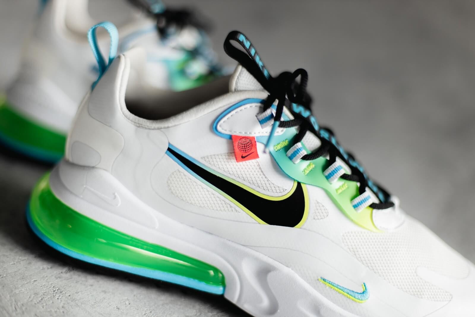 Nike Air Max 270 React SE Worldwide Pack White/Black-Blue Fury