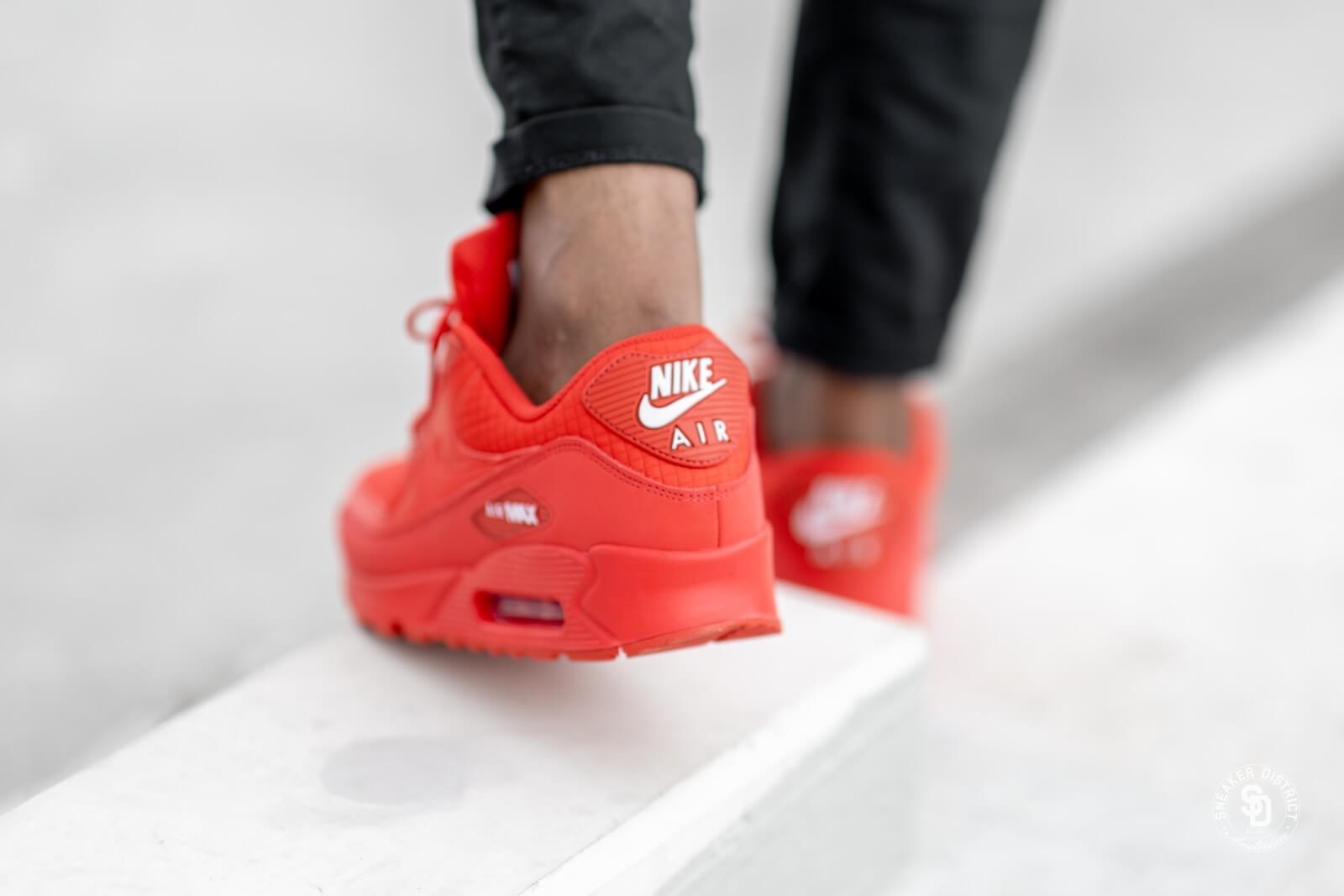 AJ1285 602 Nike Air Max 90 Essential University RedWhite