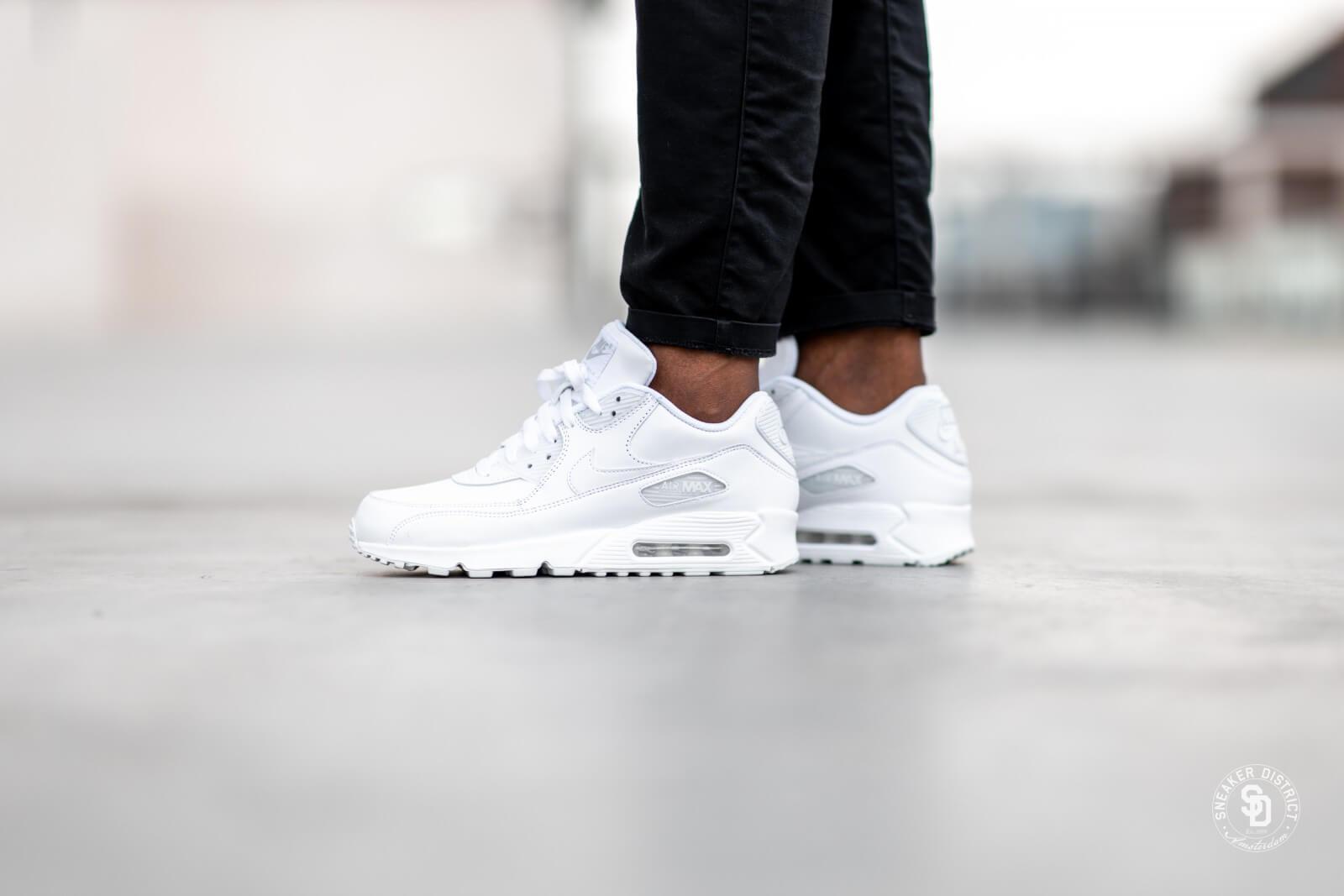 Nike Air Max 90 Leather White 302519 113 Purchaze