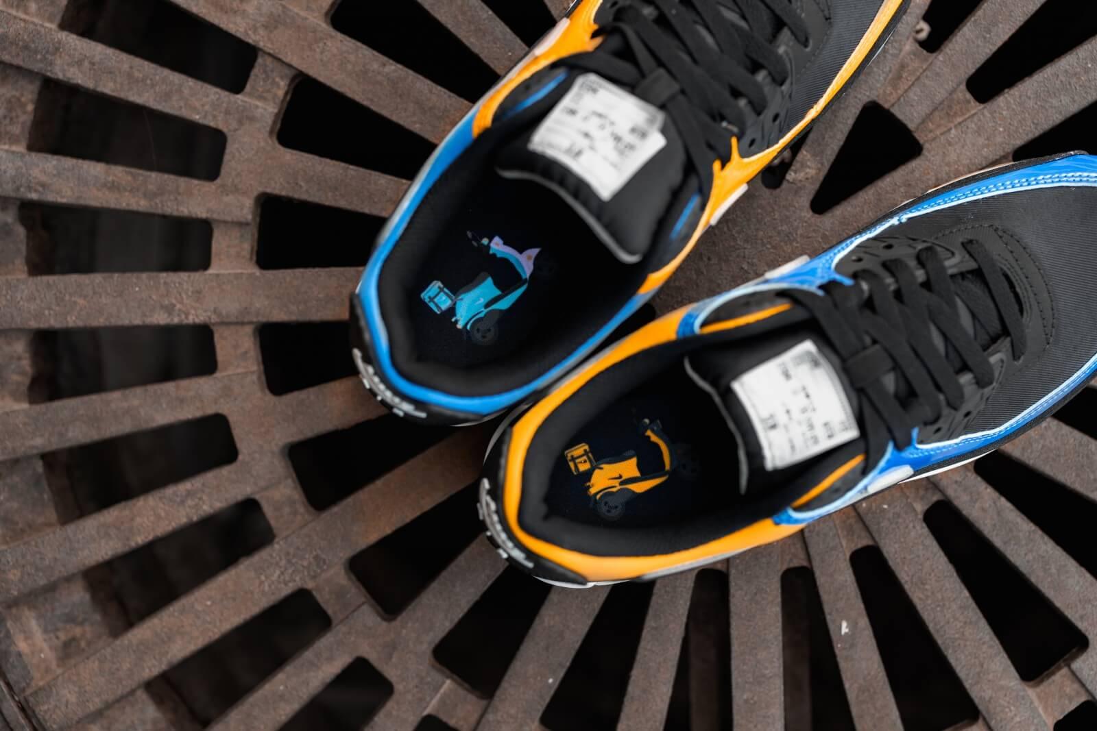 Nike Air Max 90 Premium City Pack Shanghai BlackMetallic Silver Pacific Blue CT9140 001
