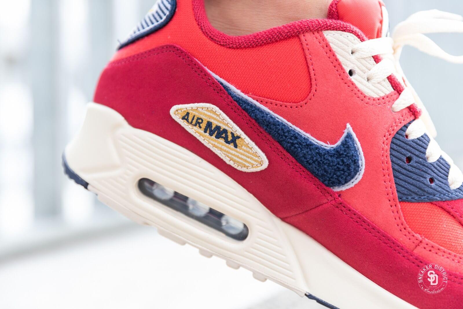 Nike Air Max 90 Premium SE University RedProvence Purple 858954 600