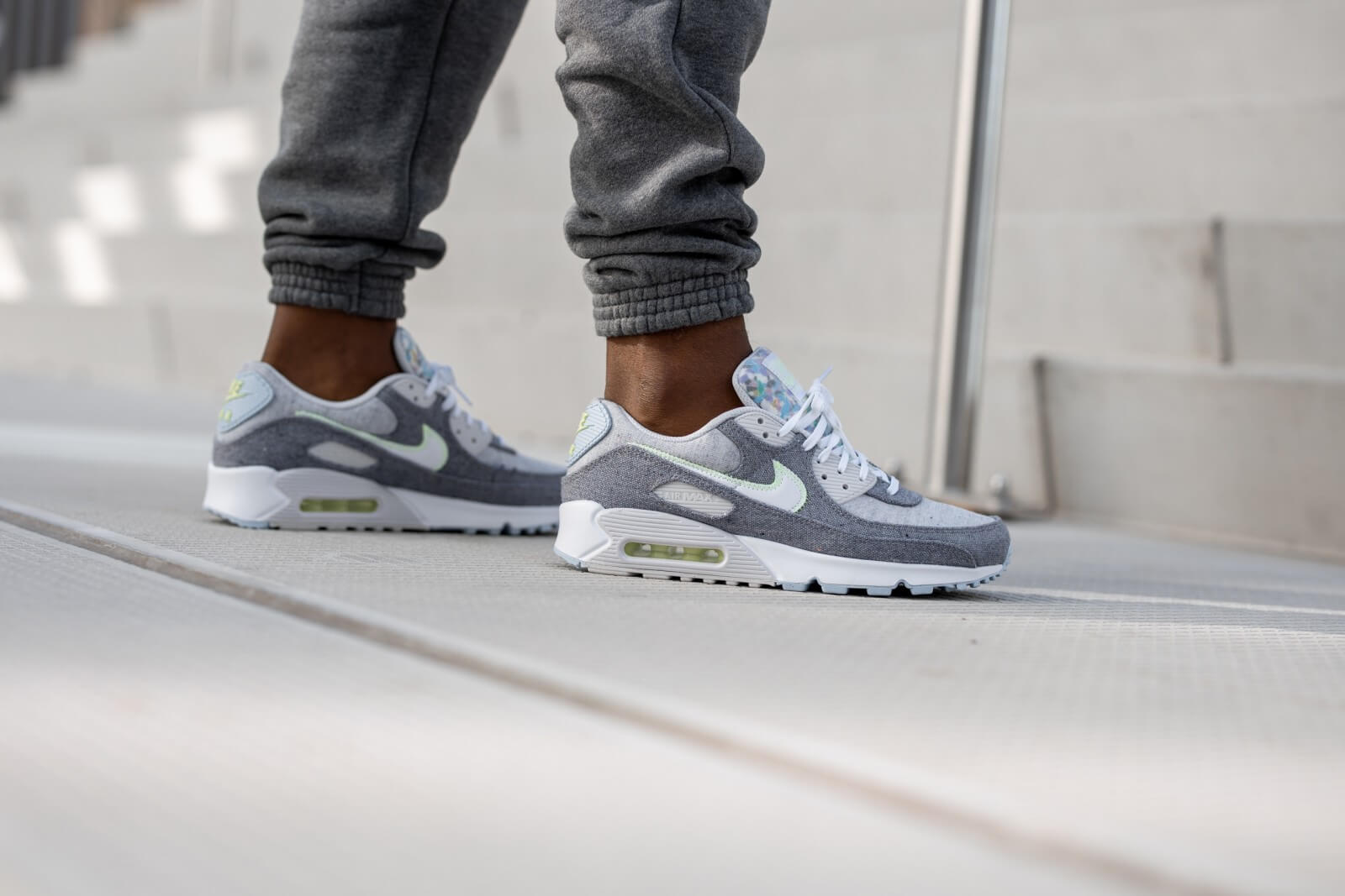 Nike Air Max 90 Recycled Canvas Vast Grey/White-Barely Volt