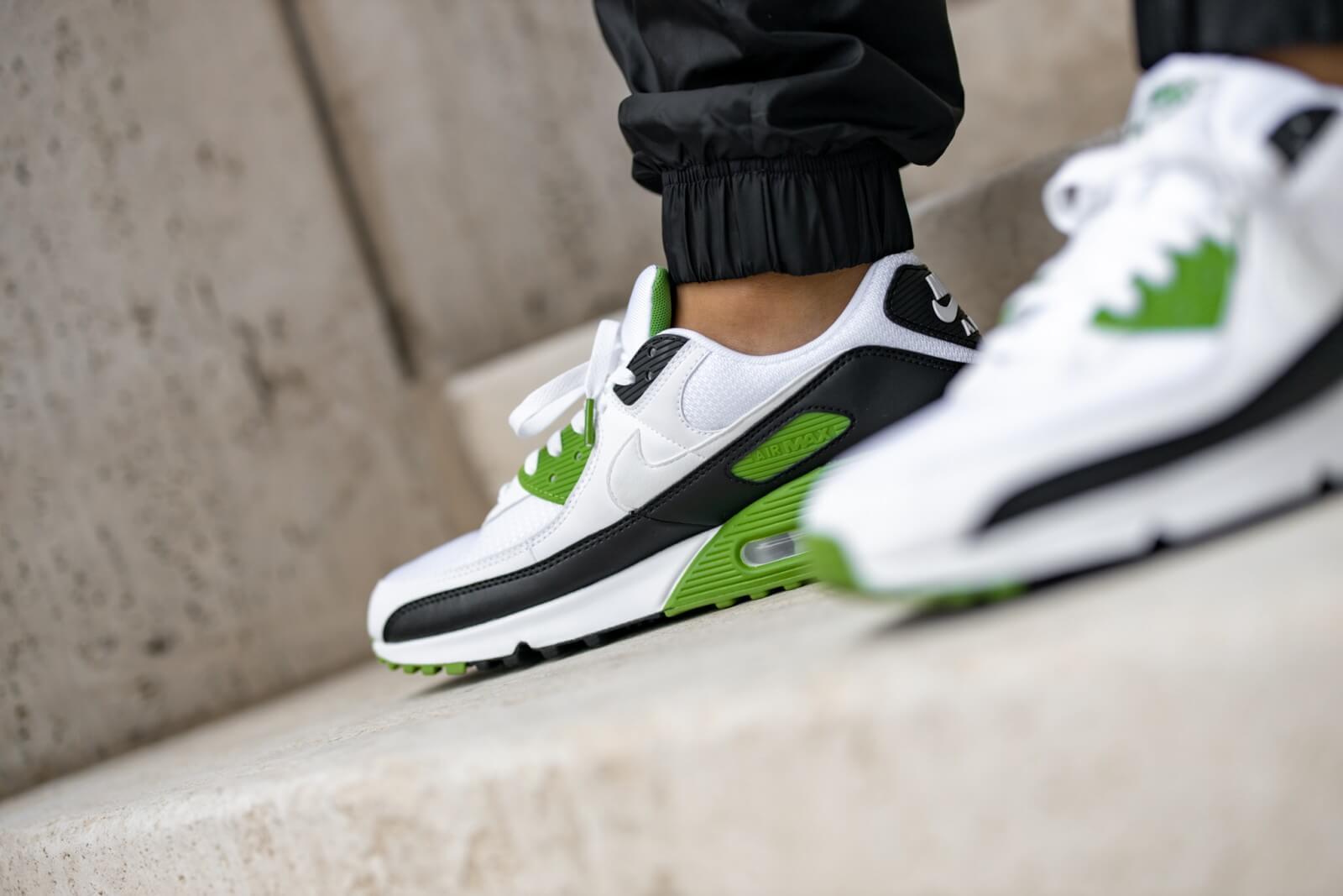 Nike Air Max 90 White/Cholorophyll-Black