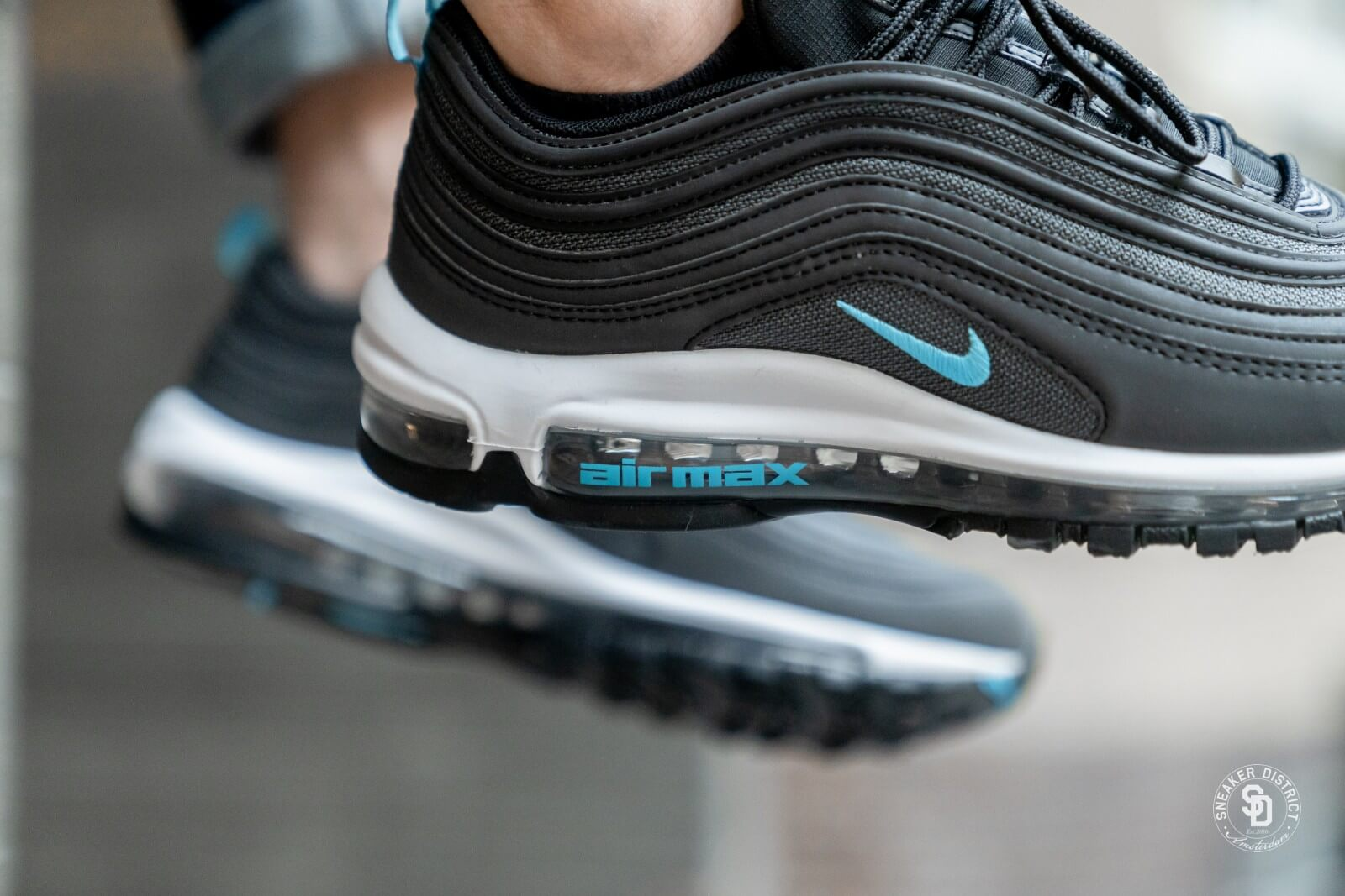 Nike Air Max 97 Black Blue Fury Dark Grey Bv1985 001