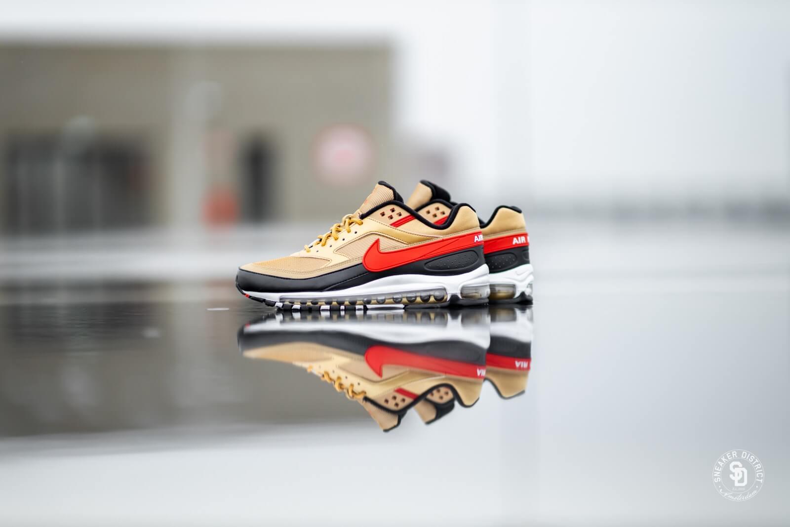 Nike Air Max 97BW Metallic GoldUniversity Red Black AO2406 700