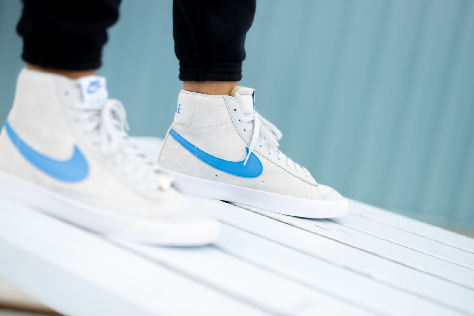 Nike Blazer Mid '77 NRG EMB Grey Fog/Light Photo Blue-White