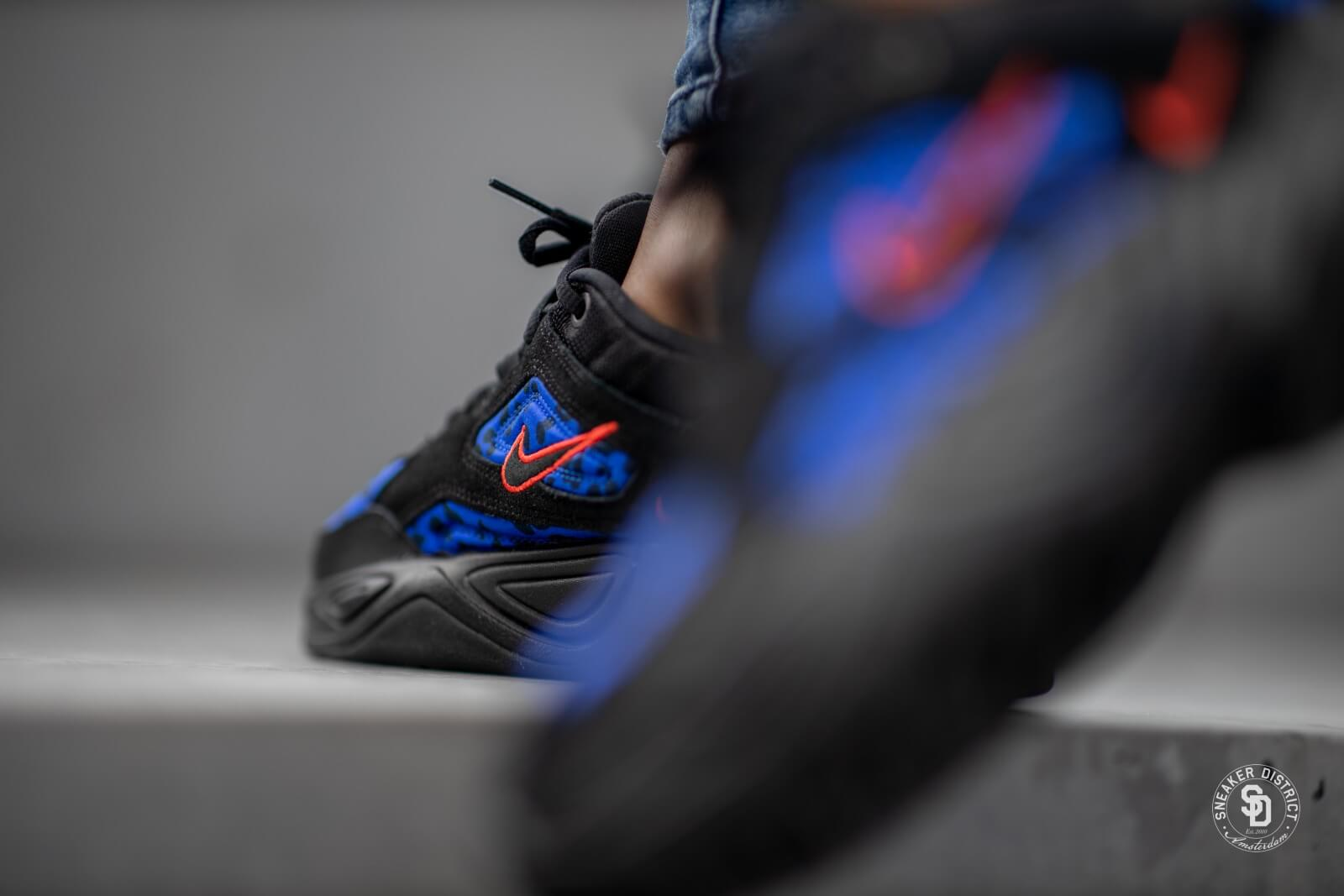 Nike M2k Tekno Premium Black Leopard Habanero RedRacer Blue CD0181 001