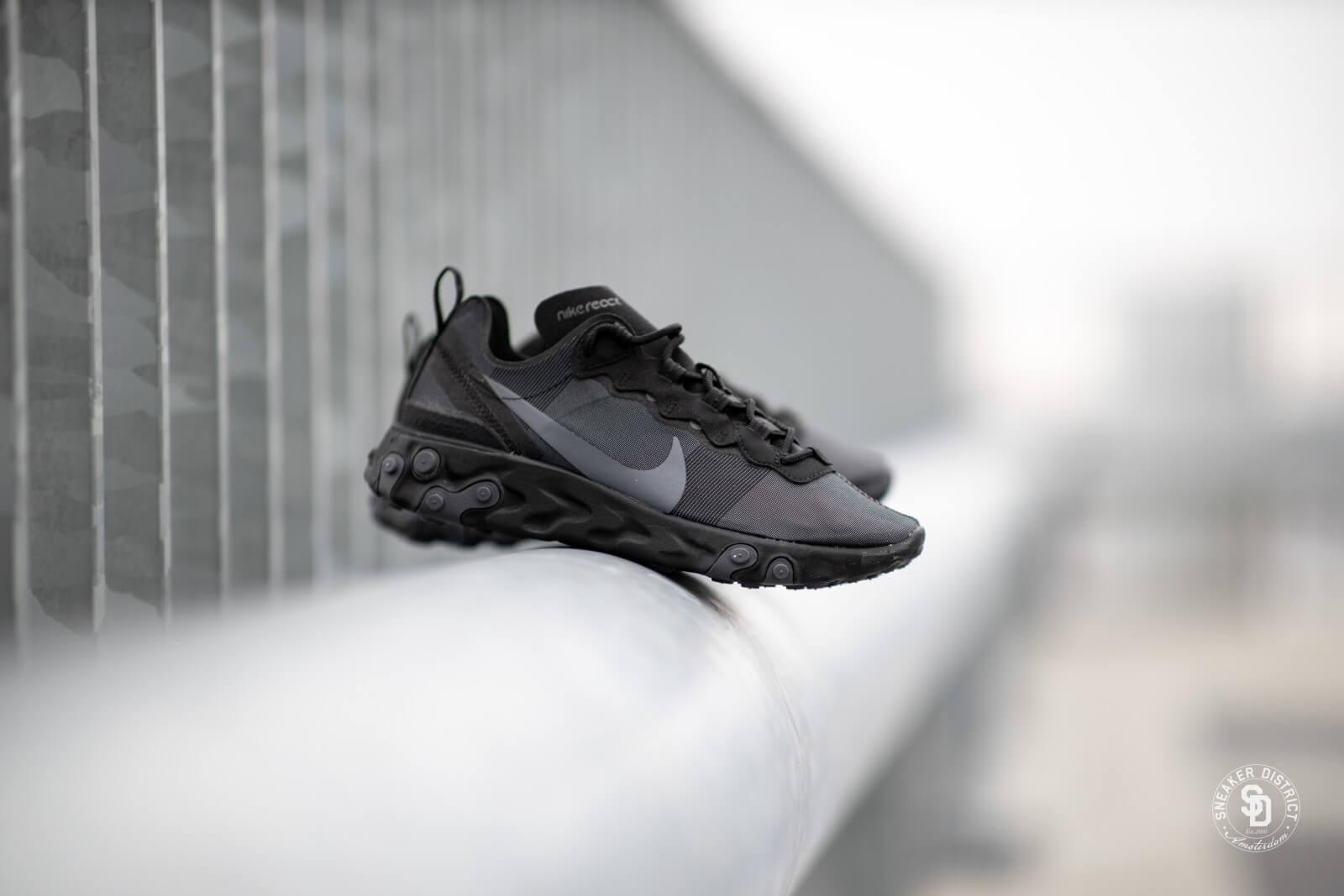 ligeramente dispersión Insistir  Nike React Element 55 Black/Dark Grey - BQ6166-008