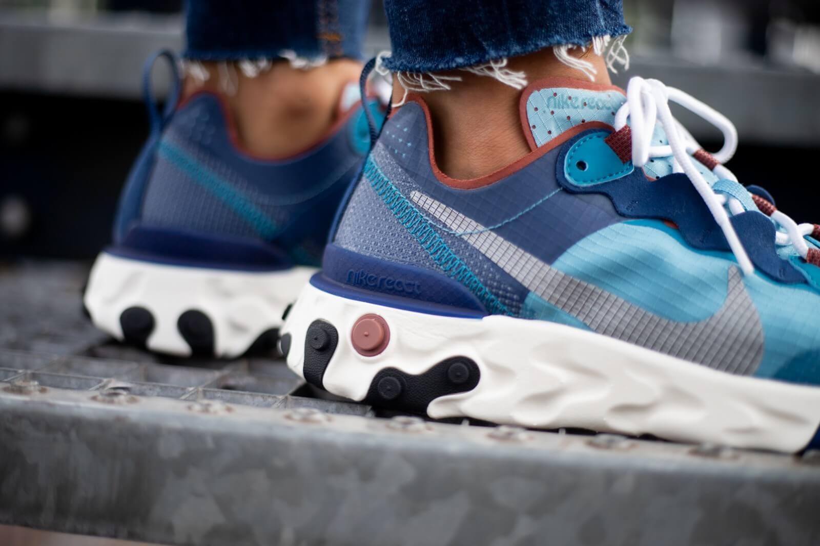 Nike React Element 55 Coastal Blue/White-Cerulean-Green Abyss