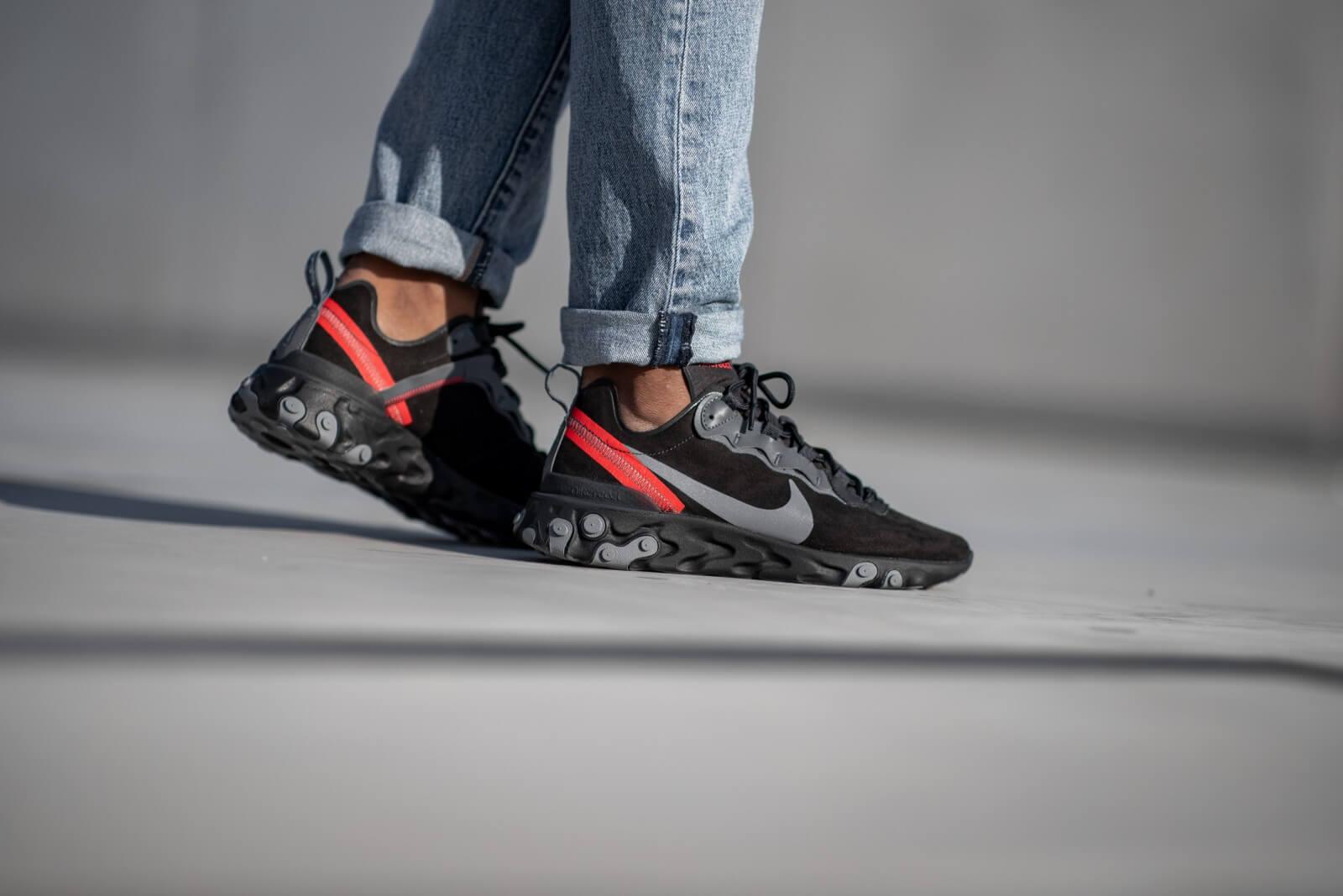 Nike React Element 55 Off Noir/Gunsmoke-Black