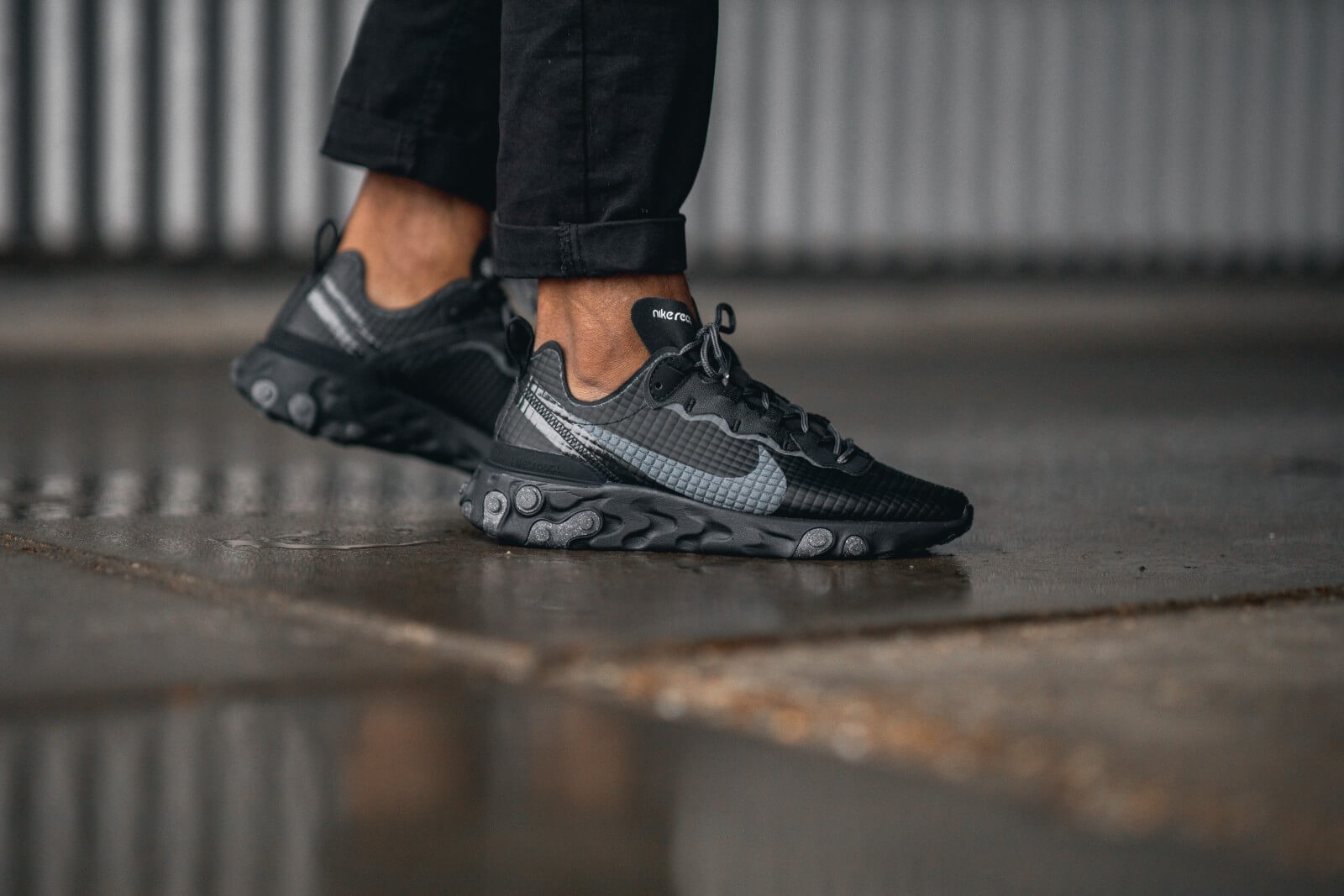 Nike React Element 55 Premium BlackDark Grey Anthracite CI3835 002