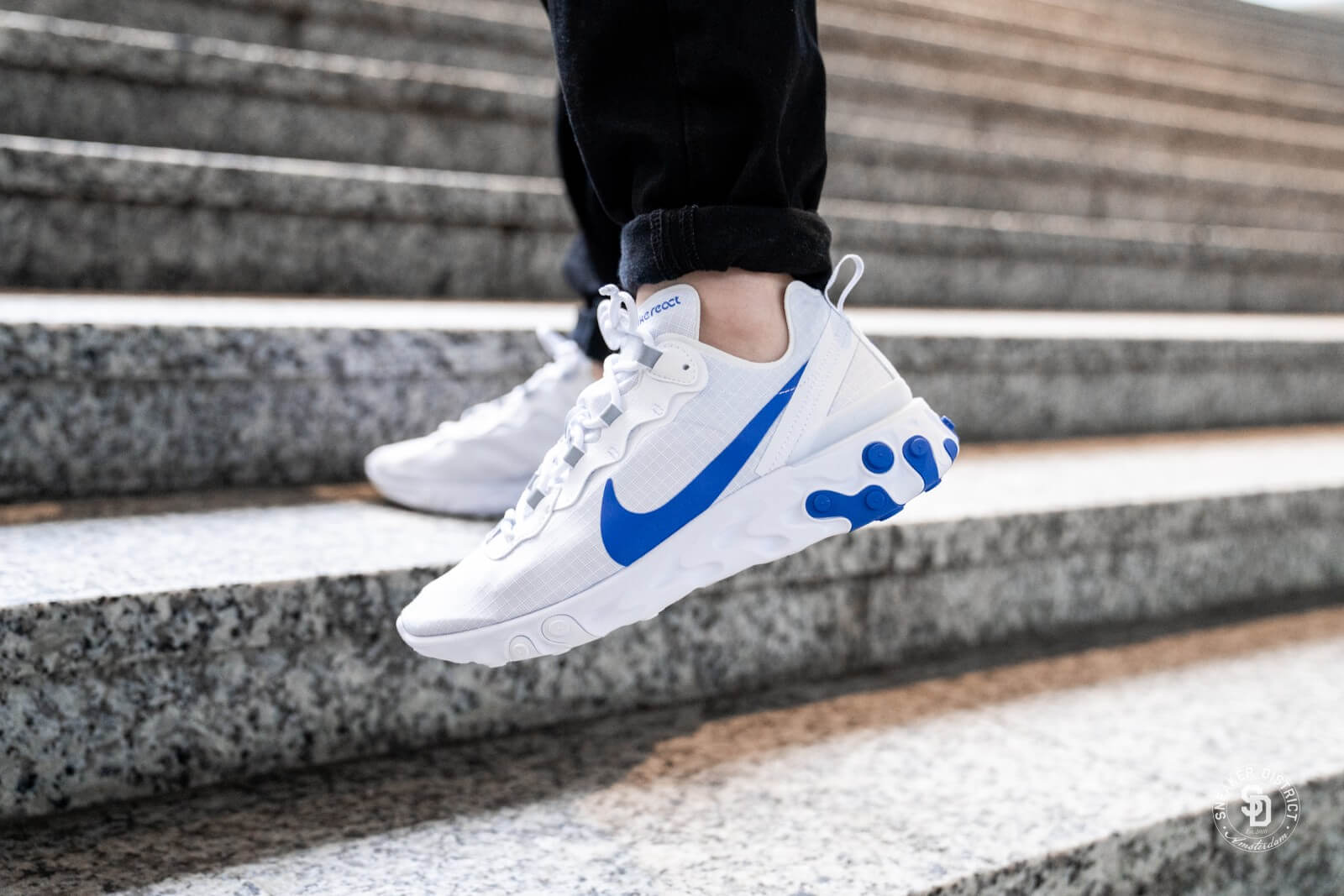 Nike React Element 55 SE WhiteGame Royal BQ6167 100