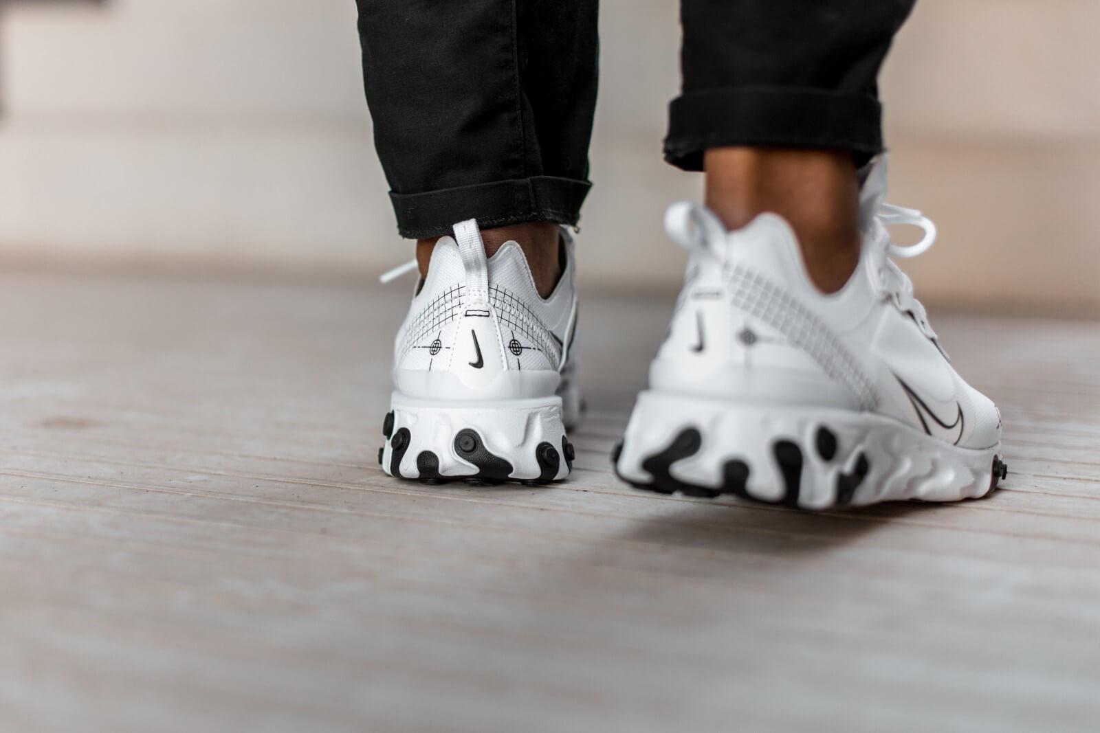 Nike React Element 55 WhiteBlack CU3009 100