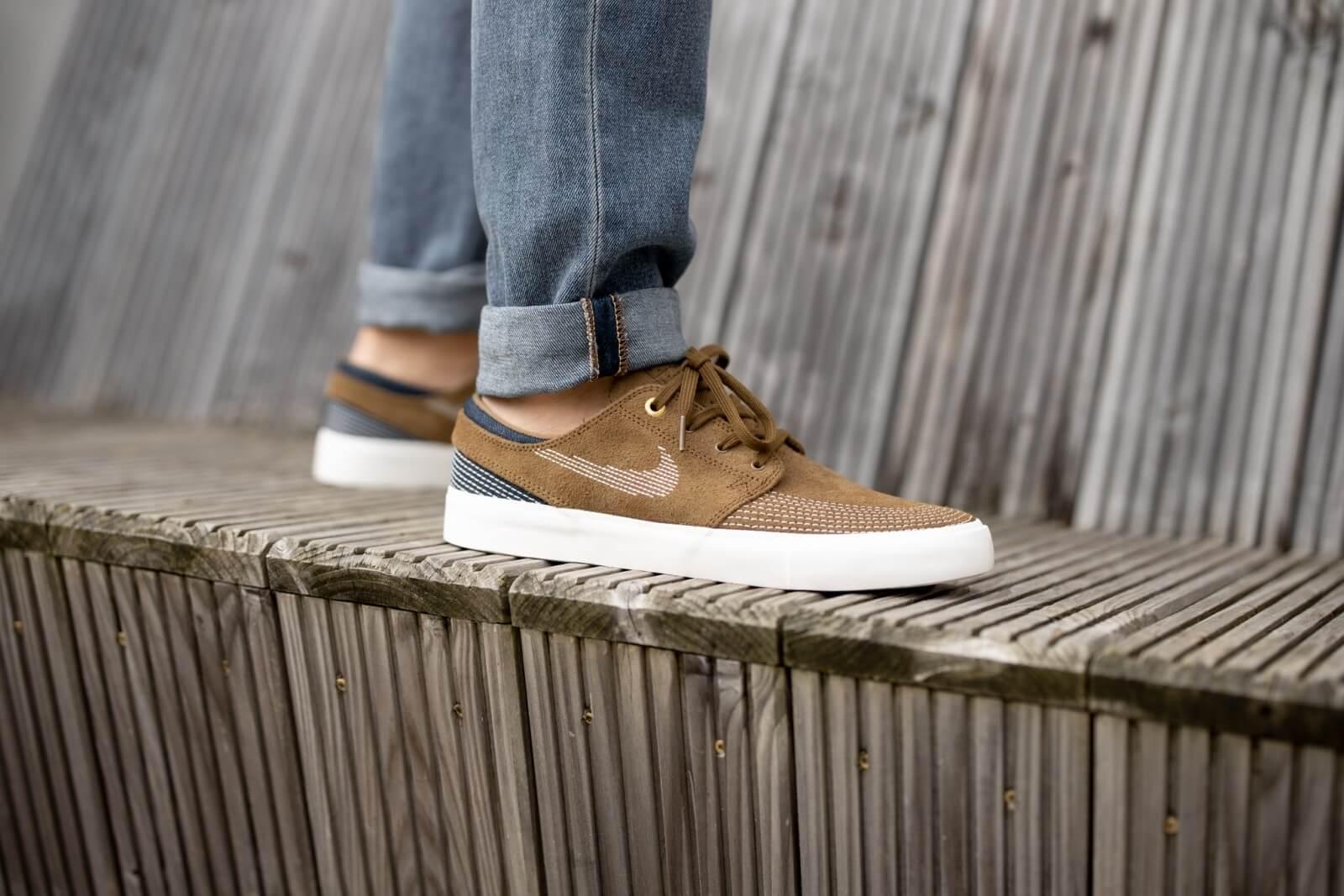 Nike SB Zoom Janoski RM Premium Yukon Brown/Sail-Mystic Navy