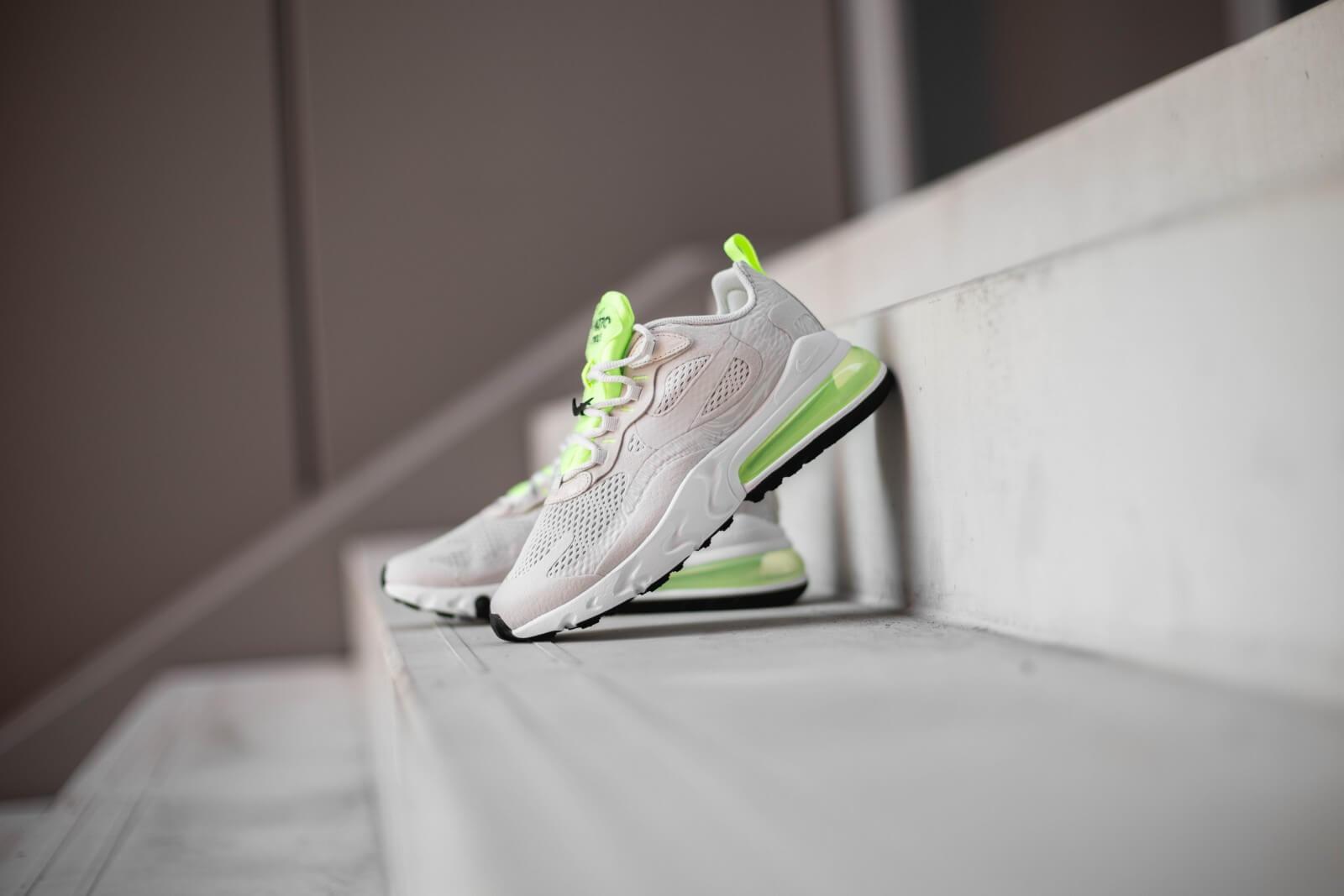 Nike Women S Air Max 270 React Vast Grey Ghost Green Cu3447 001
