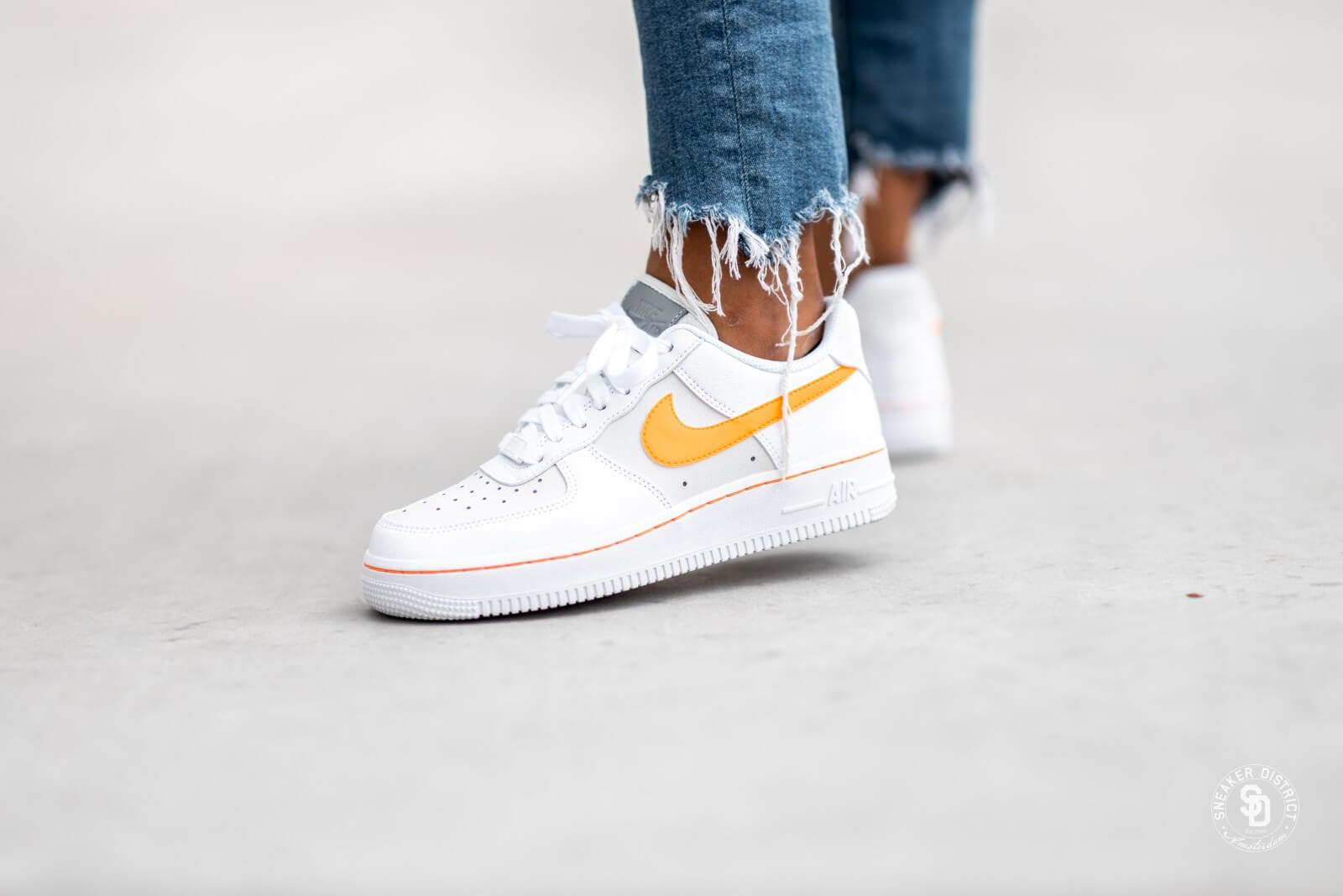 nike air force white orange
