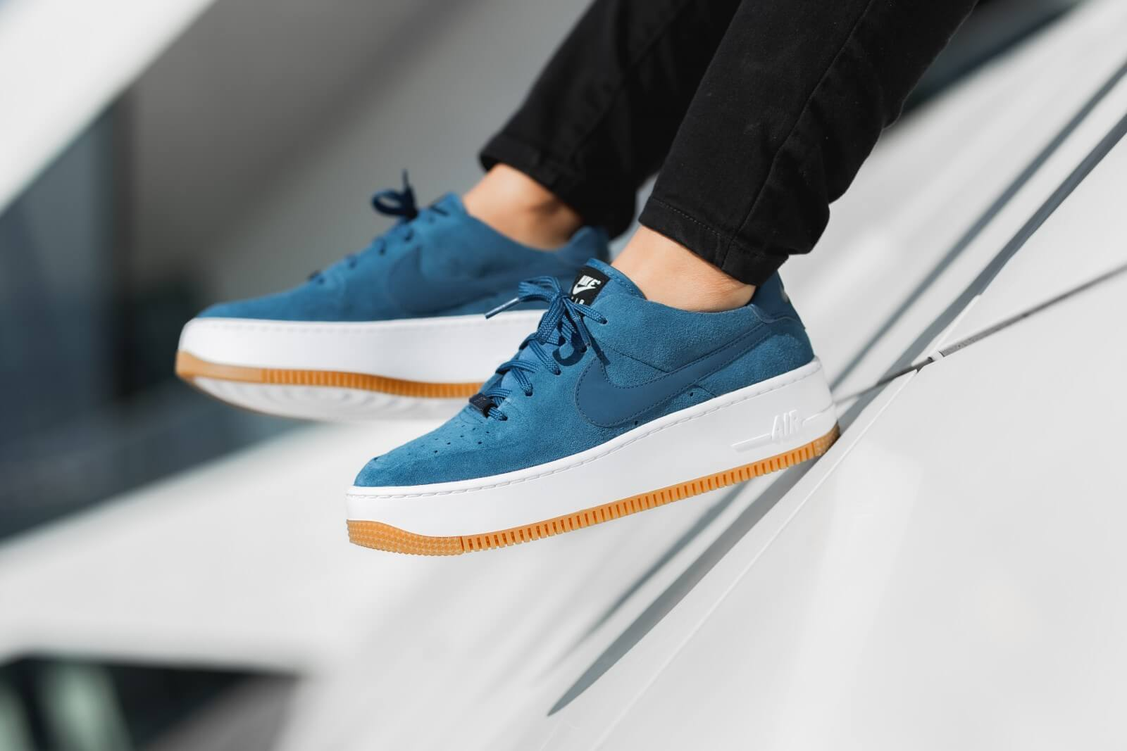 Nike Women's Air Force 1 Sage Low Blue Force/Black-White