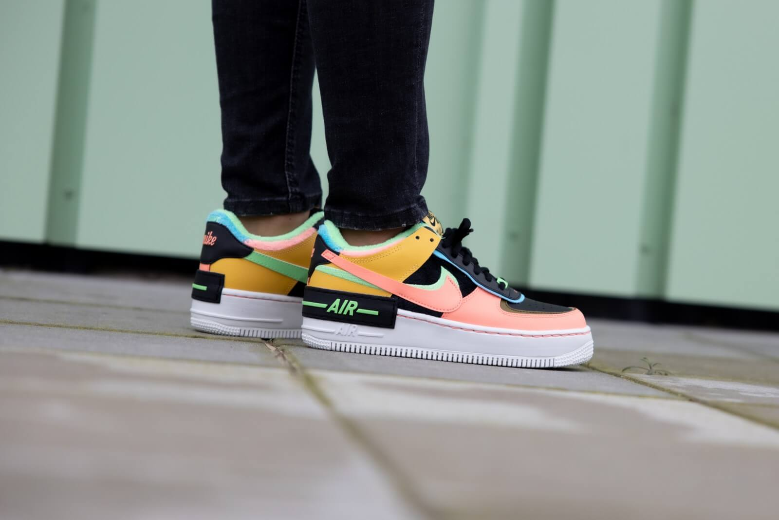 Nike Women S Air Force 1 Shadow Se Solar Flare Atomic Pink Baltic Blue Ct1985 700 Slightly lifted midsole for a touch of height. nike women s air force 1 shadow se solar flare atomic pink baltic blue