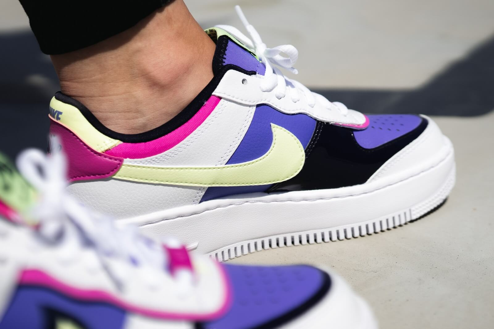 Nike Women S Air Force 1 Shadow White Barely Volt Sapphire Fire Pink Cj1641 100 Sneakers air force 1 shadow di nike. nike women s air force 1 shadow white barely volt sapphire fire pink