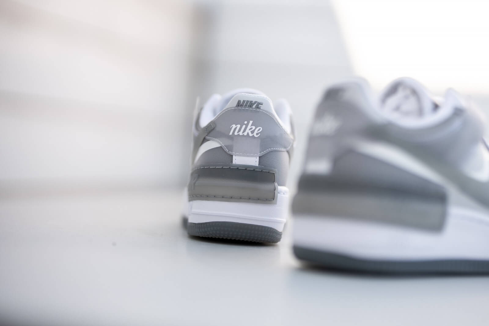 Nike Women's Air Force 1 Shadow White/Particle Grey-Grey Fog-Photon Dust