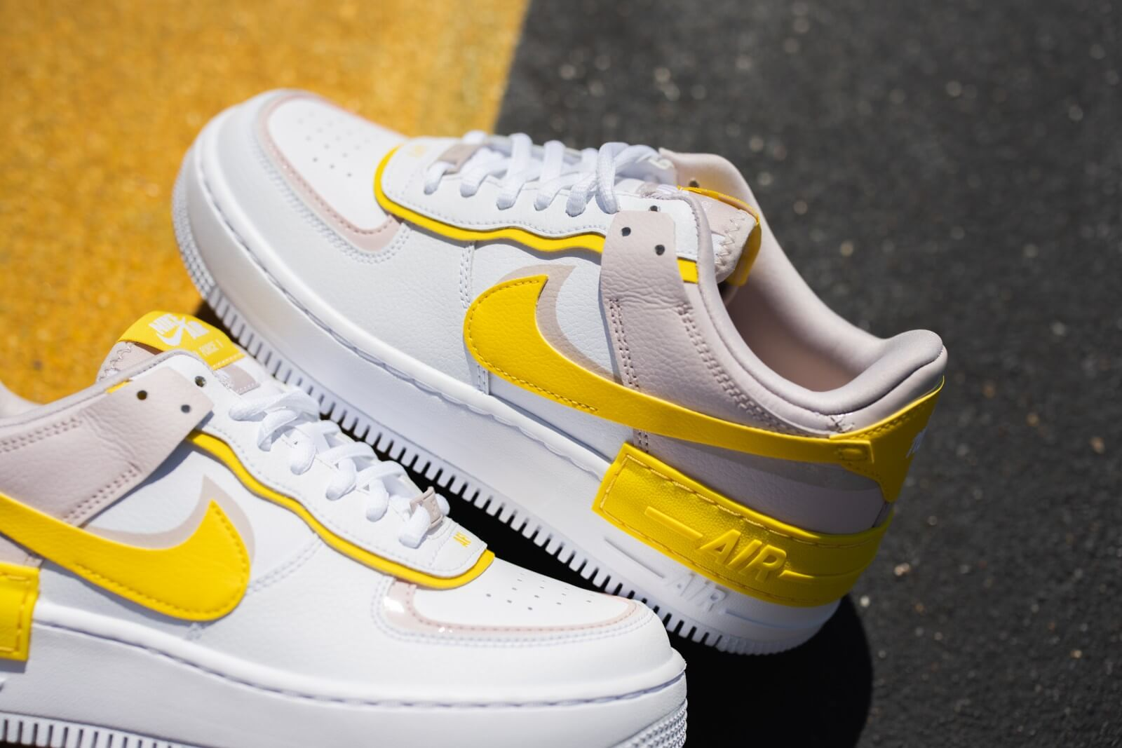 nike air force 1 shadow blanche et rose