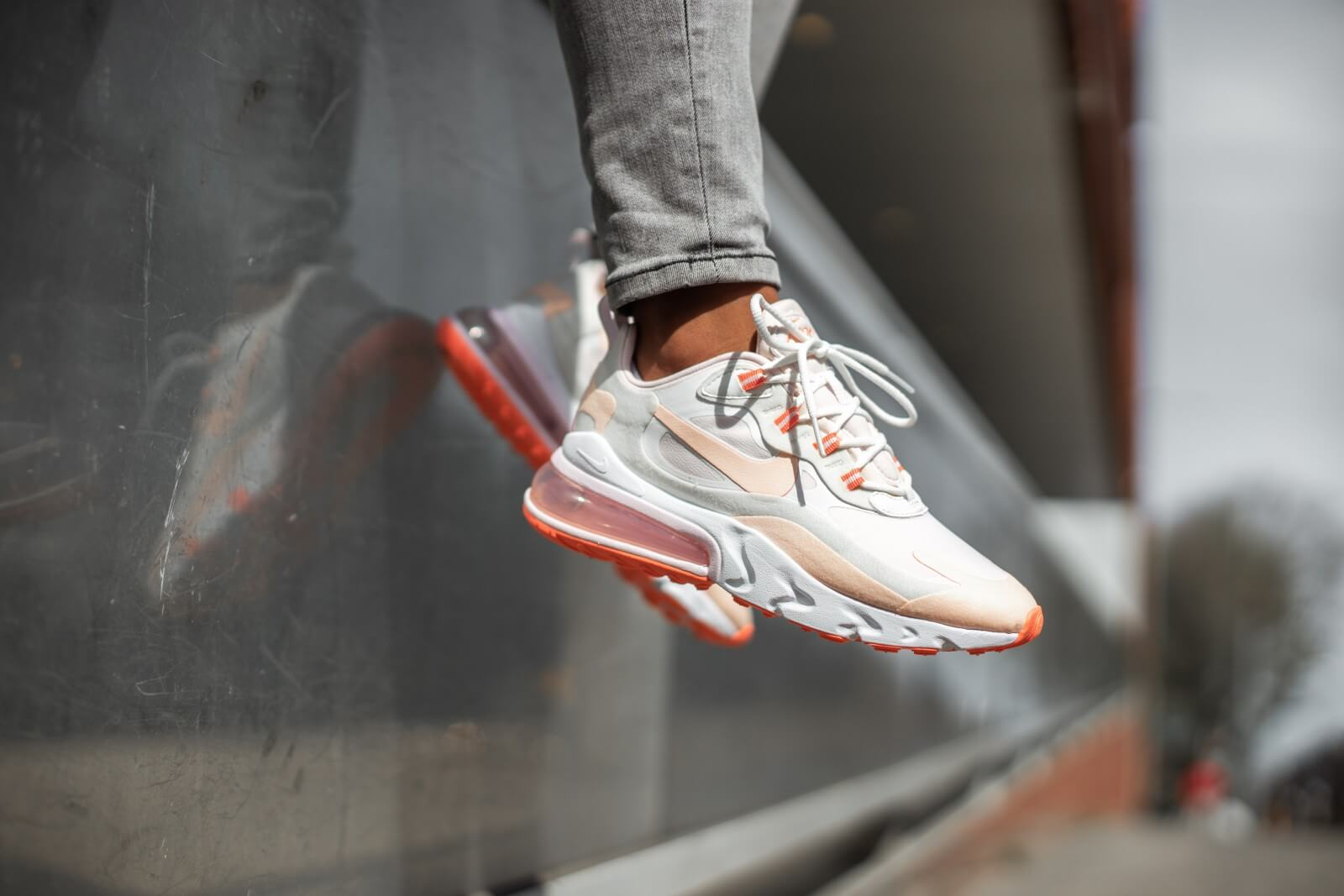 Nike Women S Air Max 270 React Summit White Crimson Tint Cj0619 103