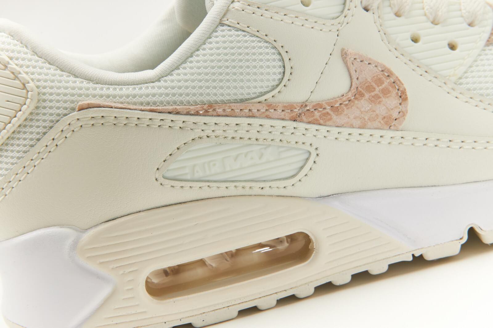 Nike Women's Air Max 90 Python Print Sail/Particle Beige