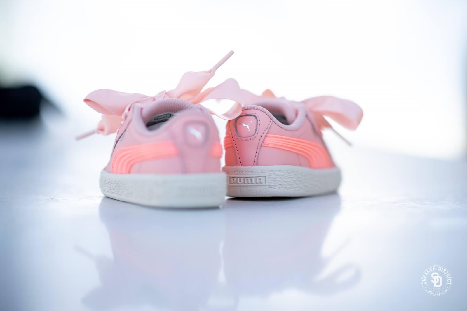 Puma Basket Heart Jelly FS Infant Peach