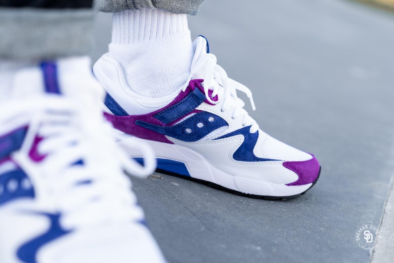 Saucony GRID 9000 White/Purple - S70439-2