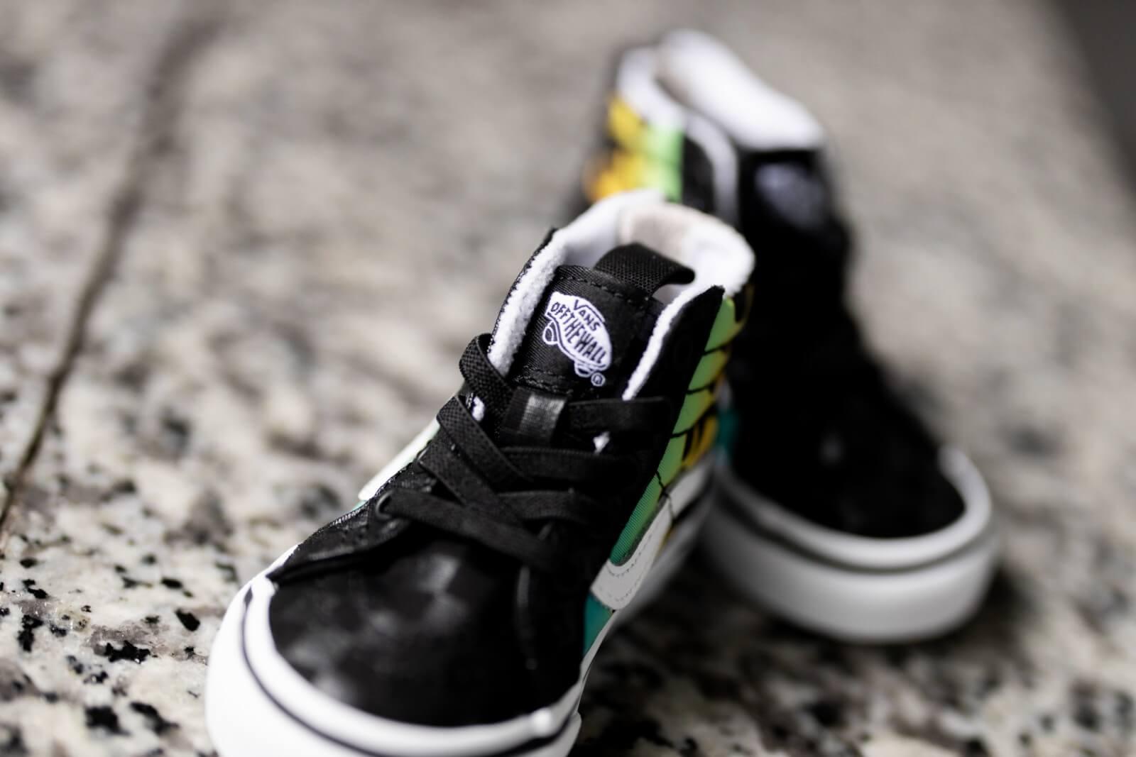 Vans Sk8-Hi Zip Glow Flame Black/True White